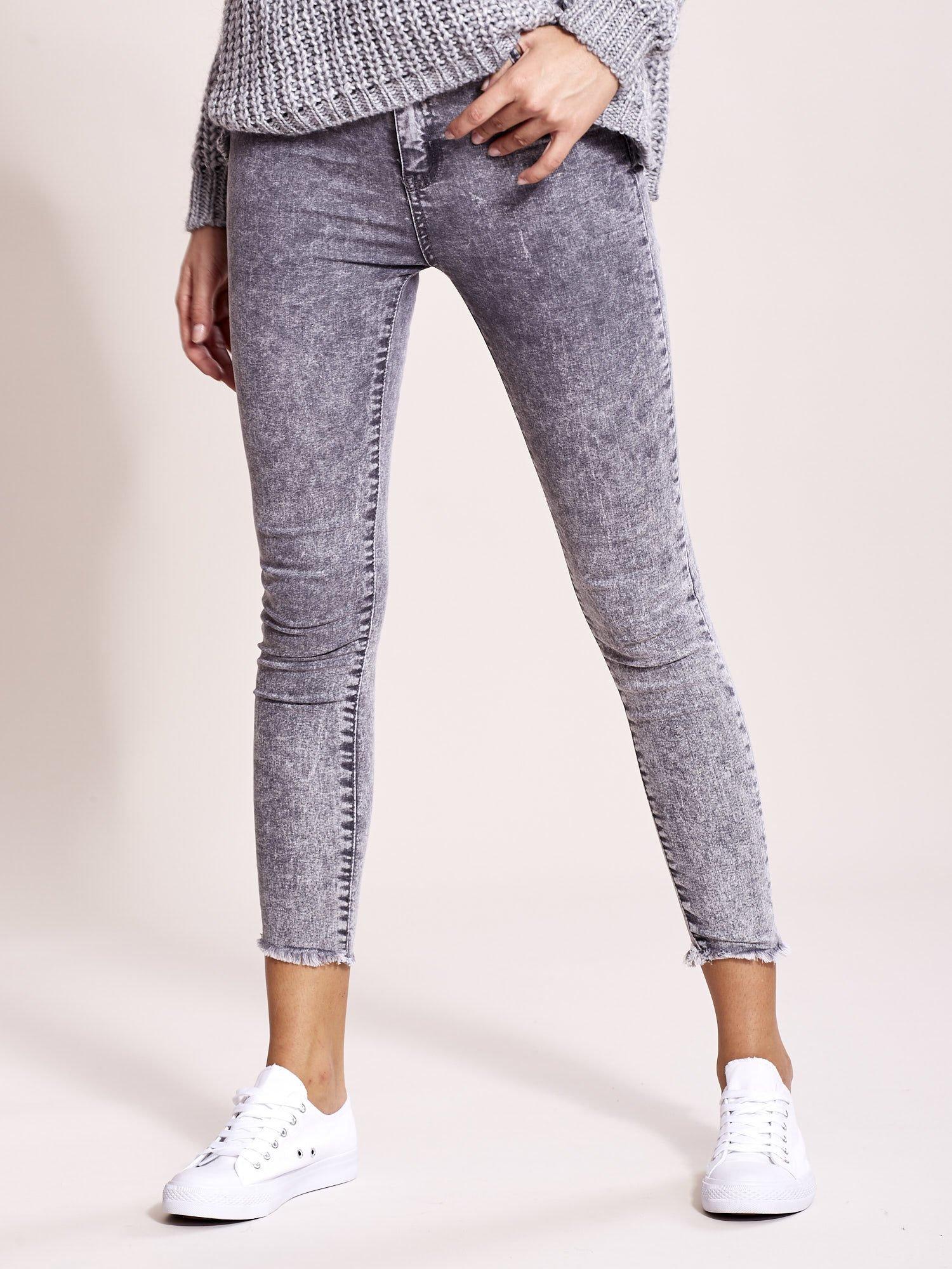 107966a7 Szare jeansy damskie high waist