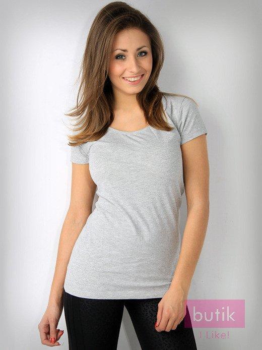 Szary basicowy t-shirt For Fitness                                  zdj.                                  1