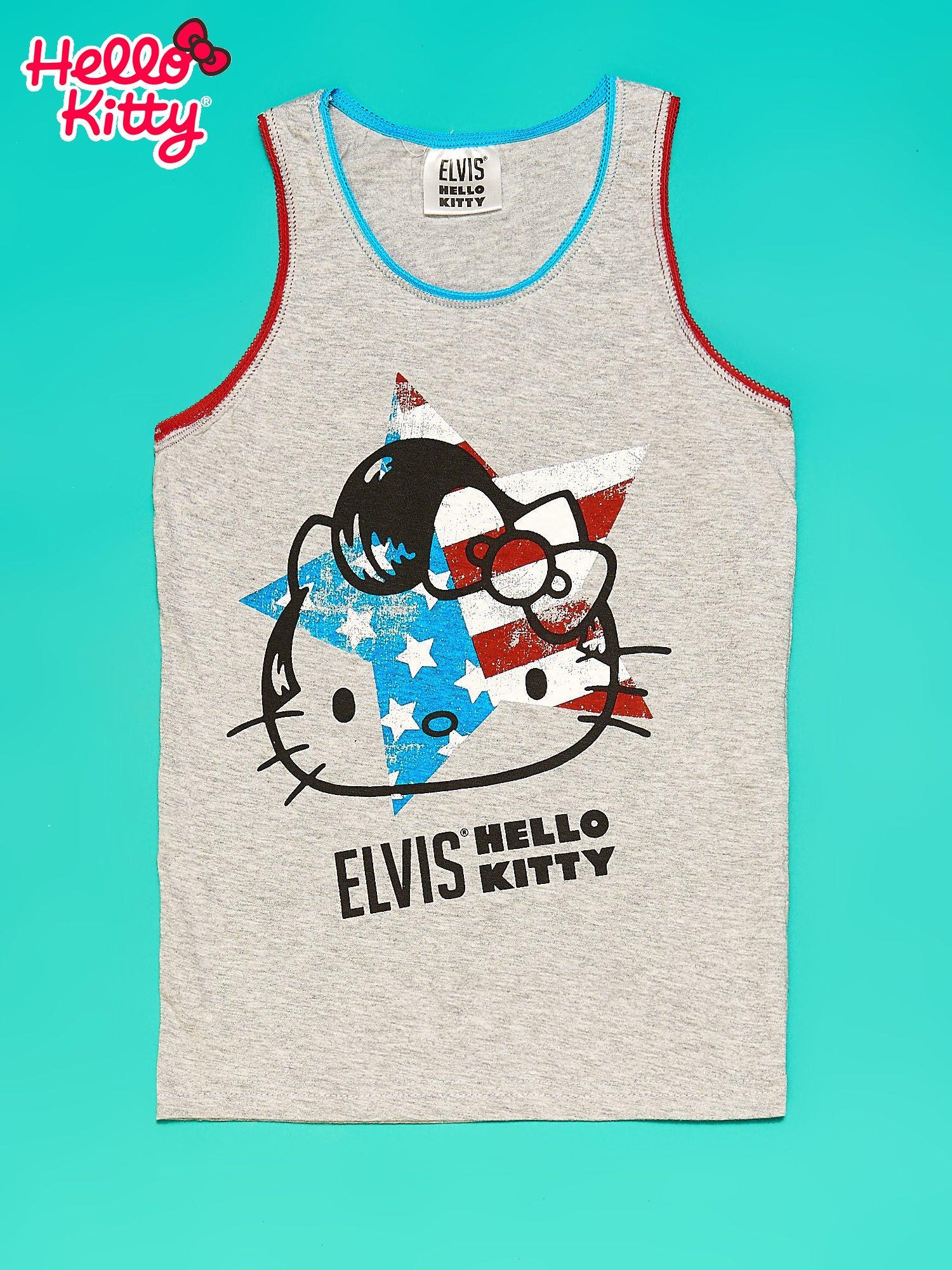 Szary komplet do spania dla dziewczynki z nadrukiem ELVIS HELLO KITTY                                  zdj.                                  3