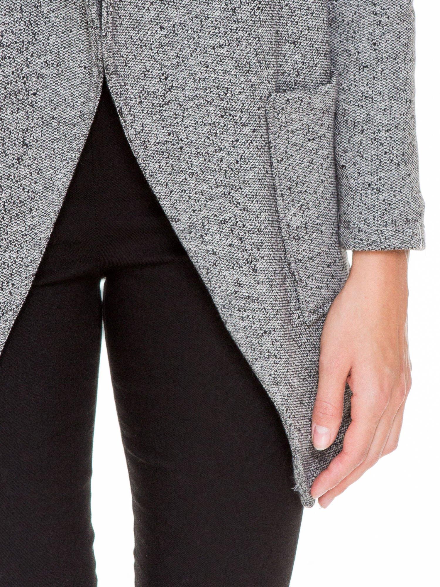 Szary melanżowy bluzożakiet z kieszeniami                                  zdj.                                  6