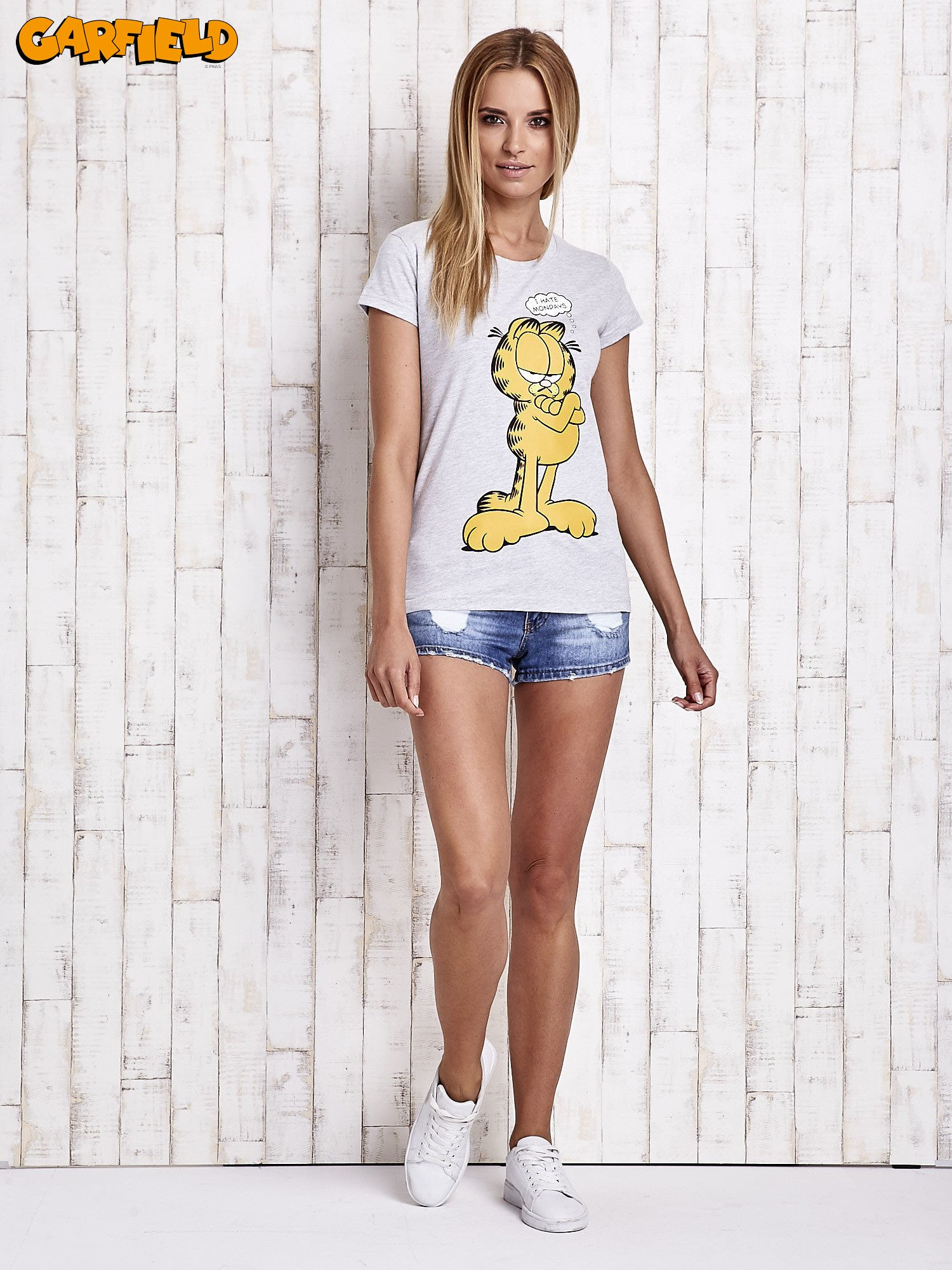 Szary t-shirt GARFIELD                                  zdj.                                  2