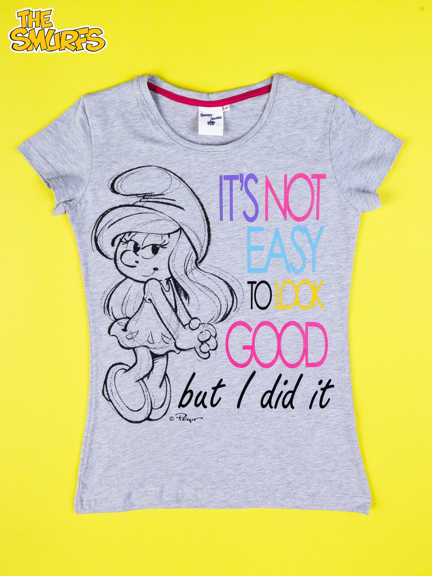 Szary t-shirt SMERFY                                  zdj.                                  1