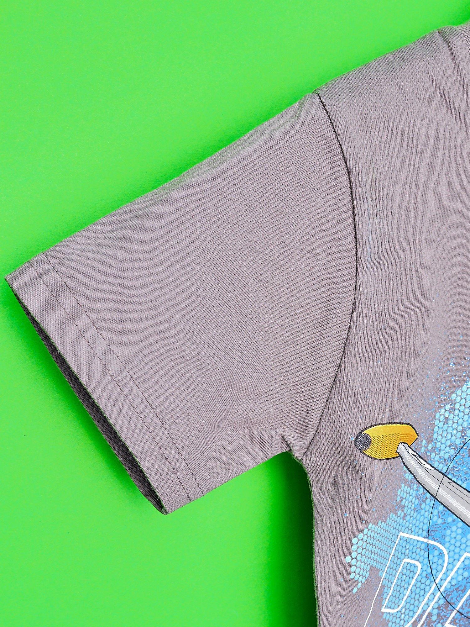 Szary t-shirt chłopięcy SAMOLOTY                                  zdj.                                  6