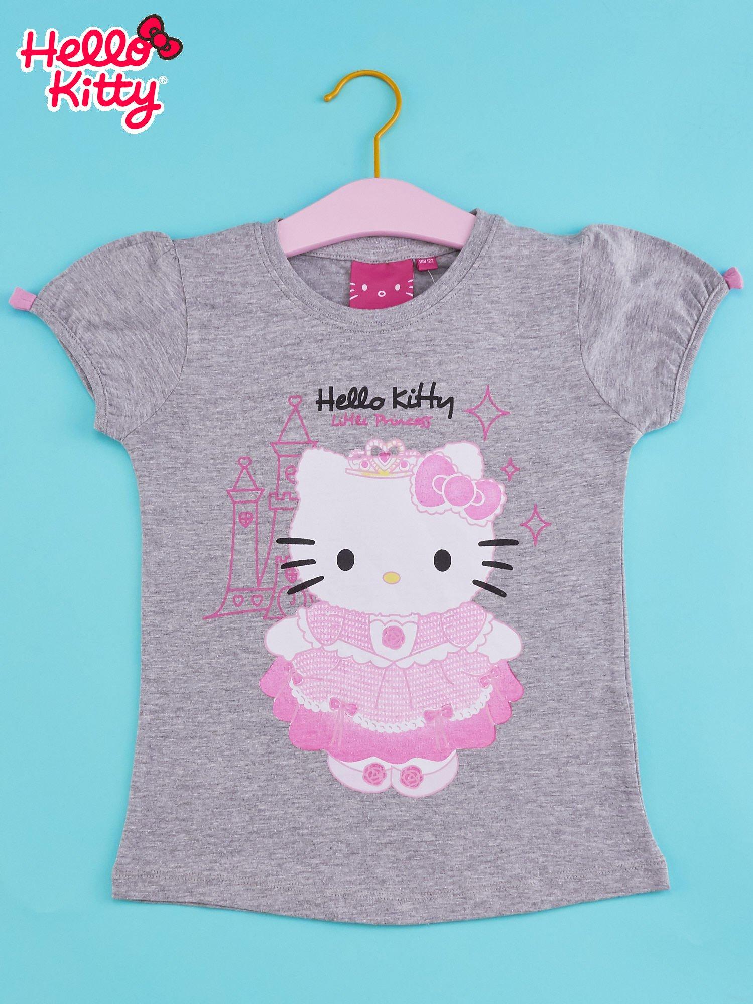 Szary t-shirt dla dziewczynki HELLO KITTY                                  zdj.                                  1