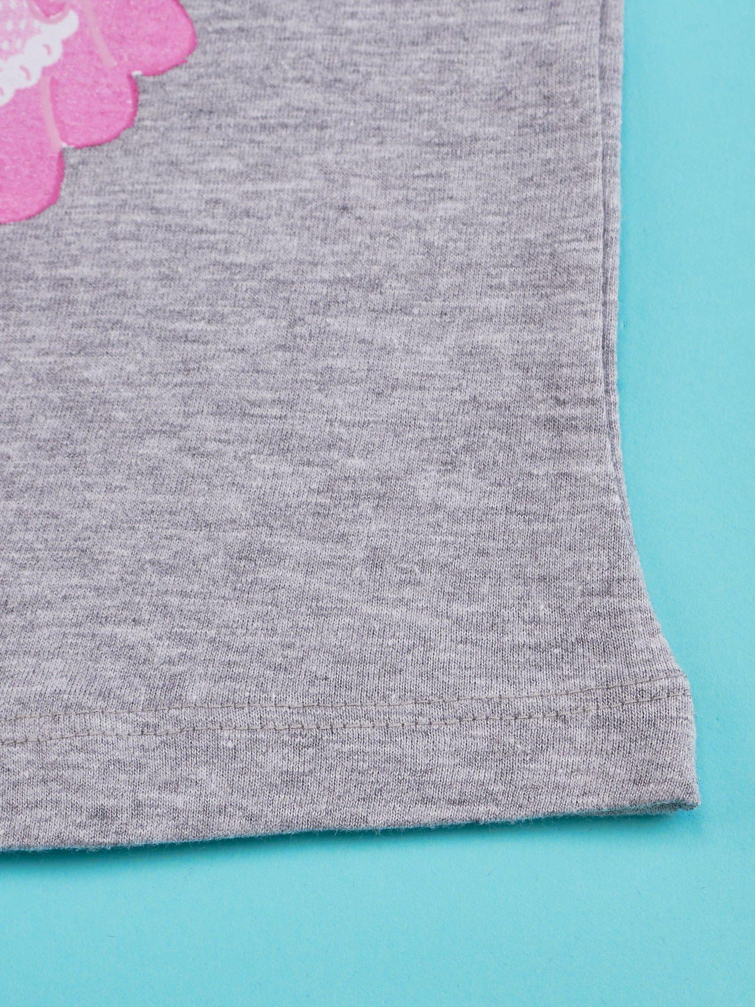 Szary t-shirt dla dziewczynki HELLO KITTY                                  zdj.                                  5