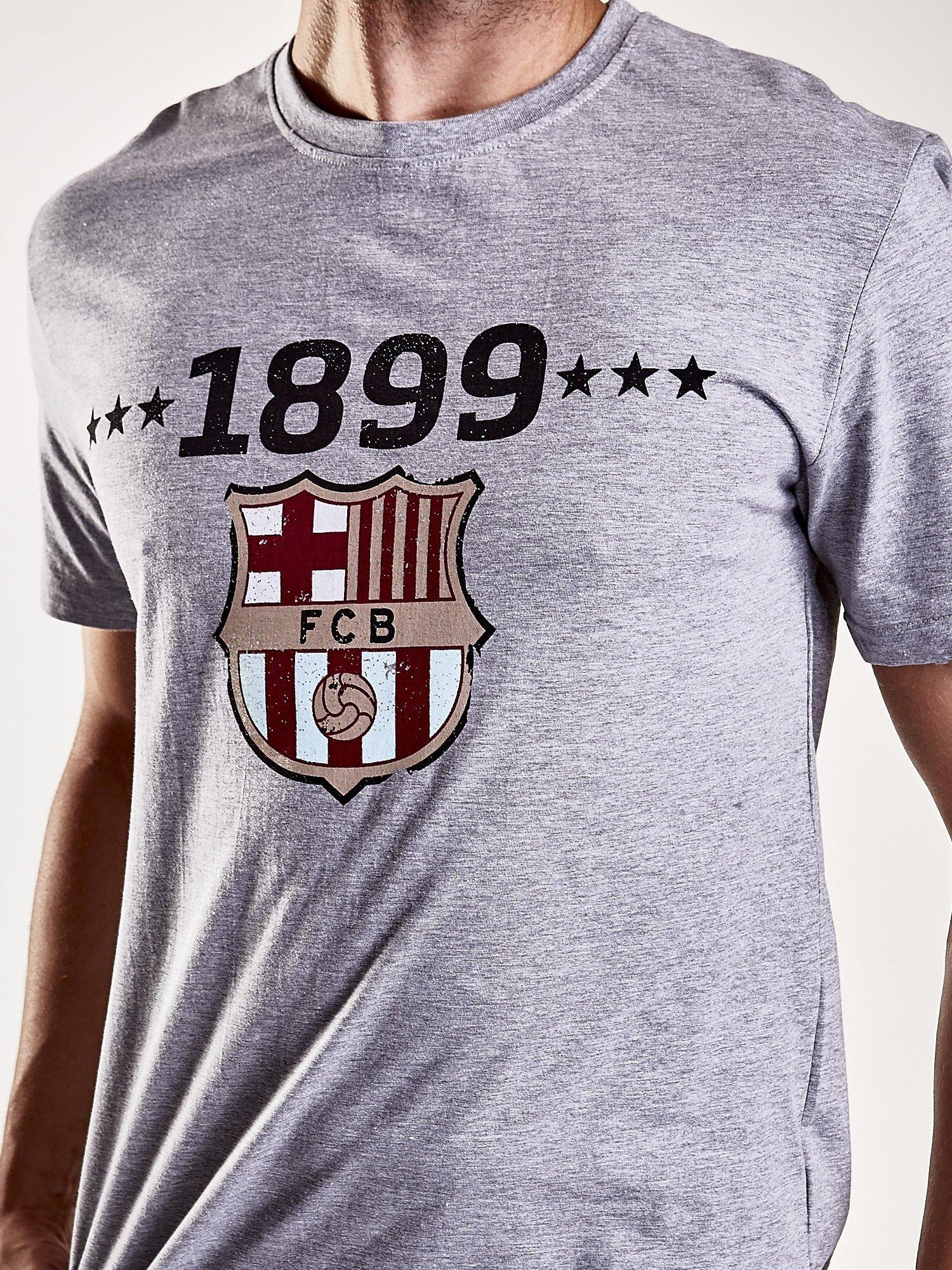 Szary t-shirt męski FC BARCELONA                                   zdj.                                  8