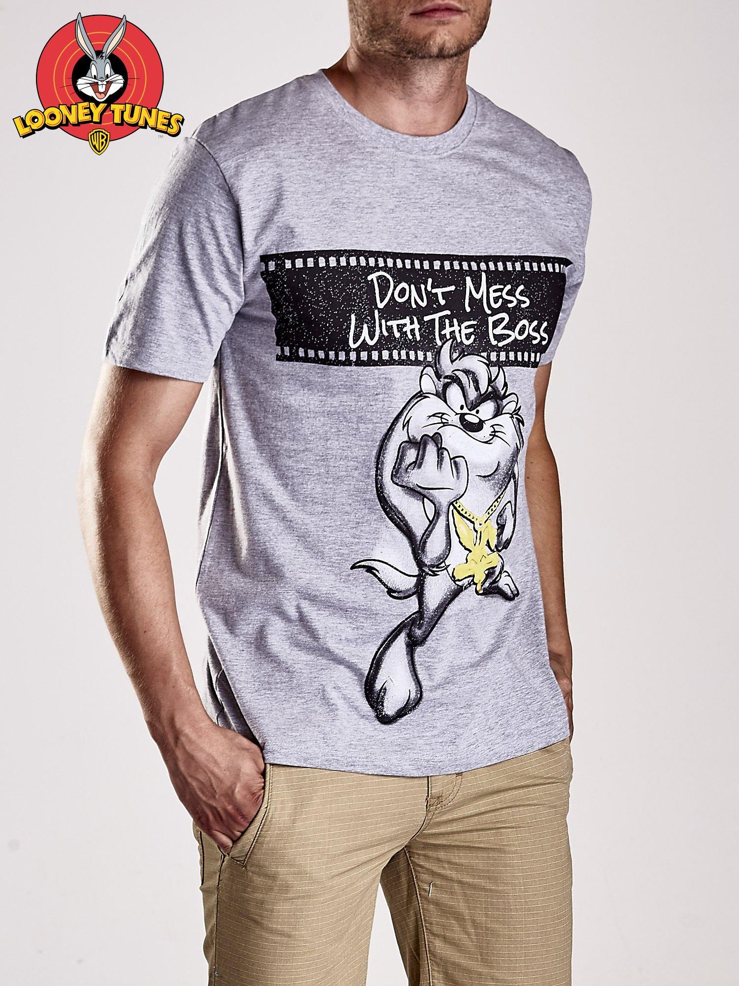 Szary t-shirt męski LOONEY TUNES                                  zdj.                                  3