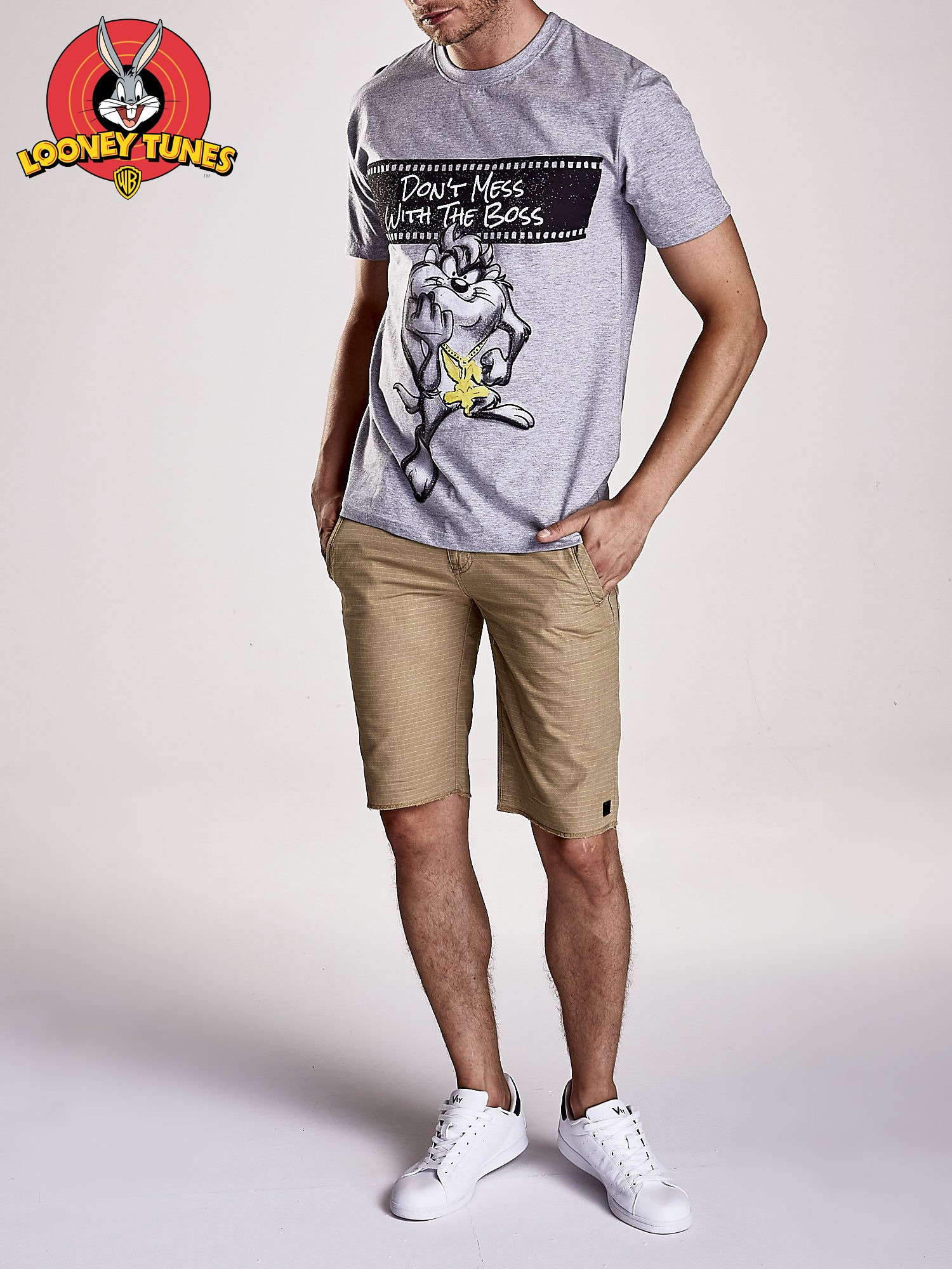 Szary t-shirt męski LOONEY TUNES                                  zdj.                                  8