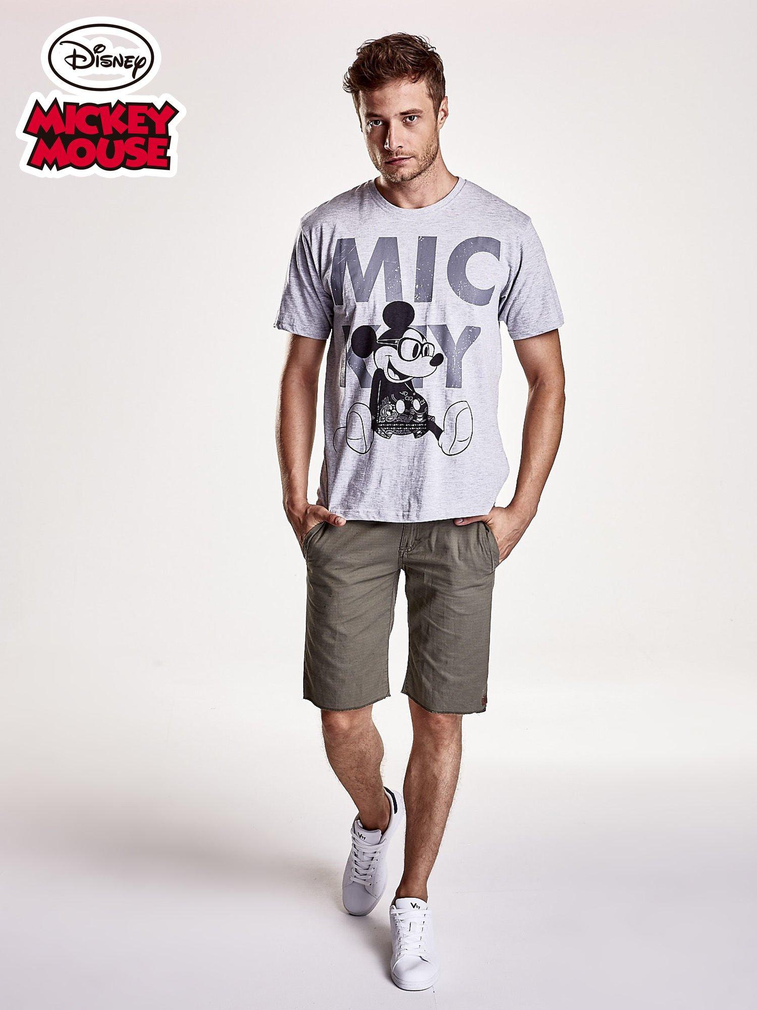 Szary t-shirt męski MICKEY MOUSE                                   zdj.                                  4