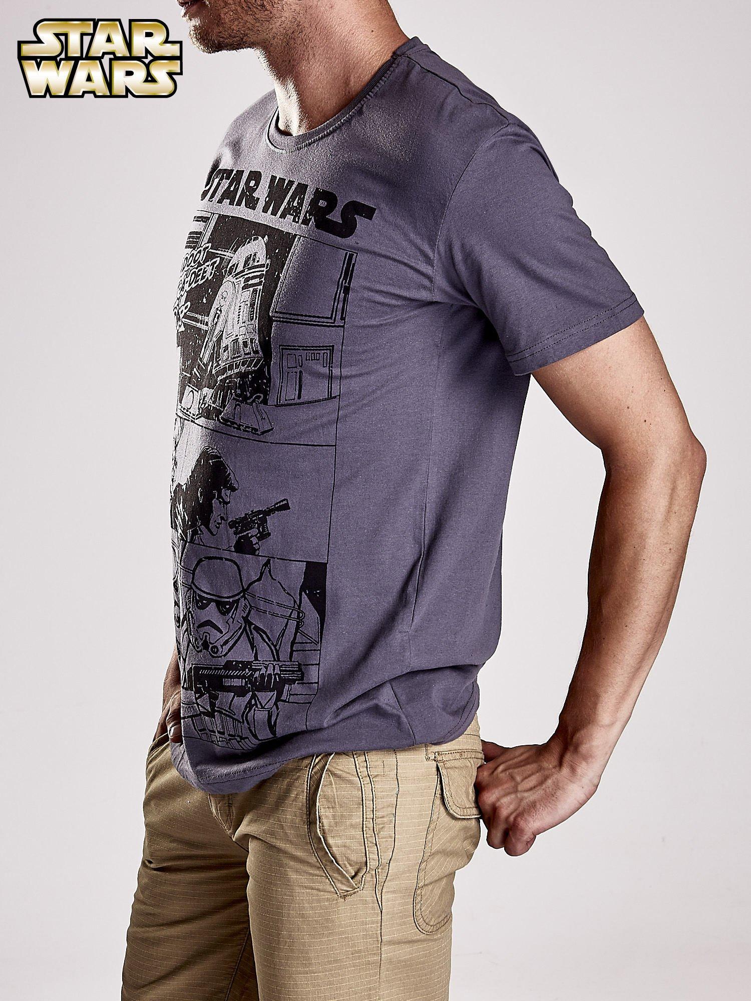 Szary t-shirt męski STAR WARS                                  zdj.                                  4