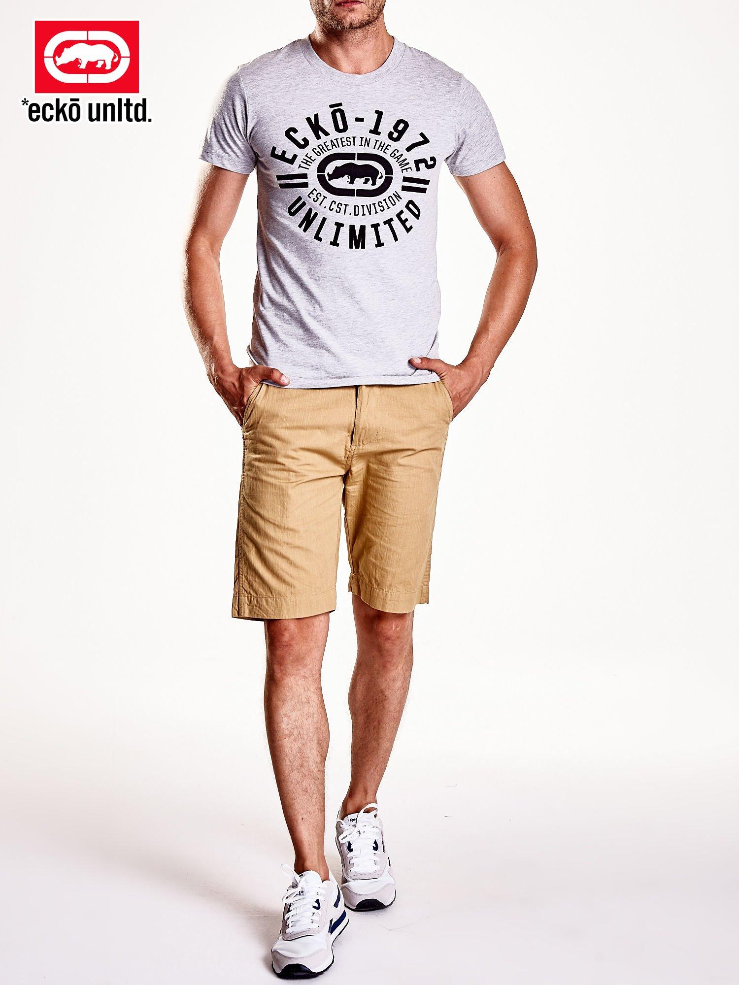 Szary t-shirt męski z czarnym logiem                                  zdj.                                  8
