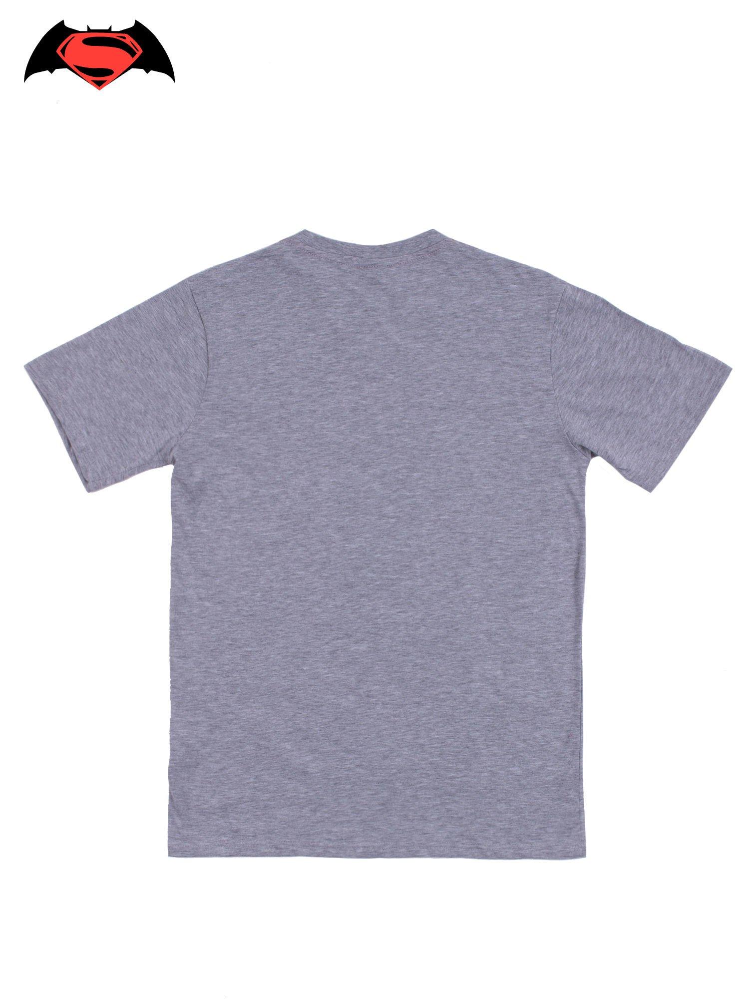 Szary t-shirt męski z nadrukiem BATMAN V SUPERMAN                                  zdj.                                  10