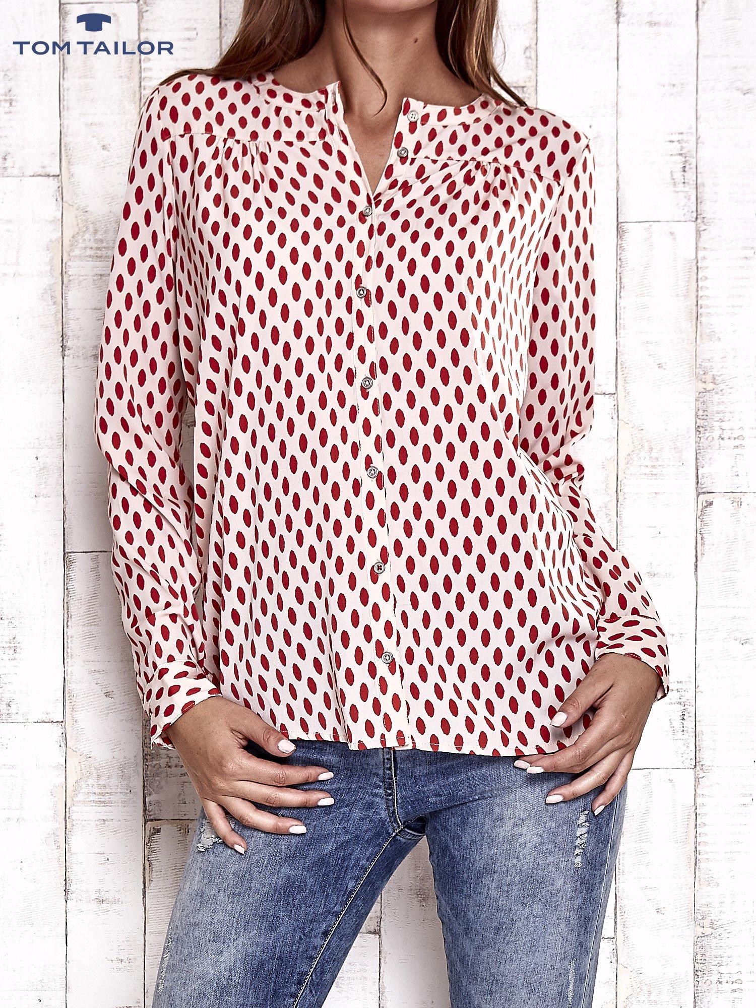 TOM TAILOR Brzoskwiniowa koszula w grochy                                  zdj.                                  1