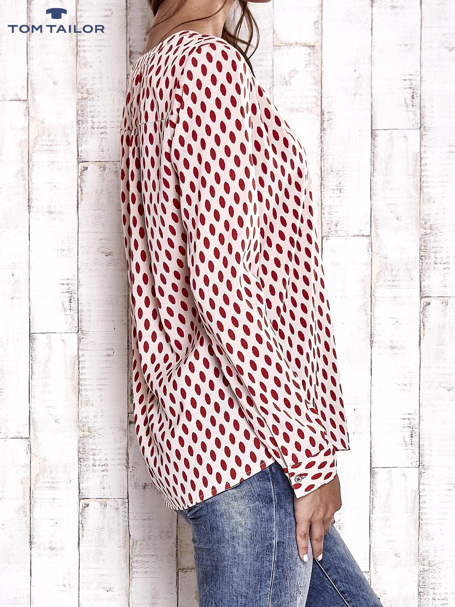 TOM TAILOR Brzoskwiniowa koszula w grochy                                  zdj.                                  4