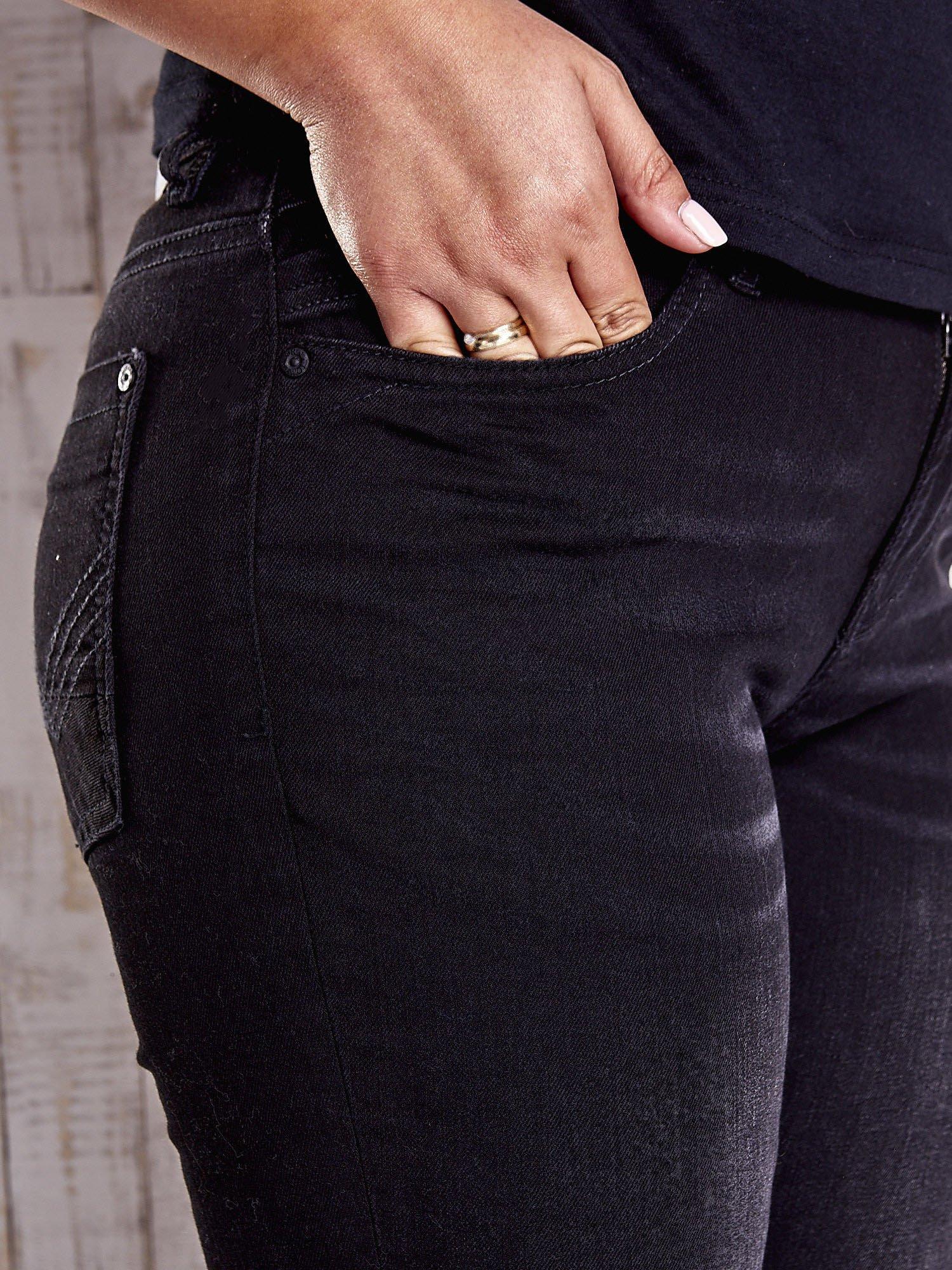 TOM TAILOR Czarne proste spodnie ze stretchem PLUS SIZE                                  zdj.                                  4