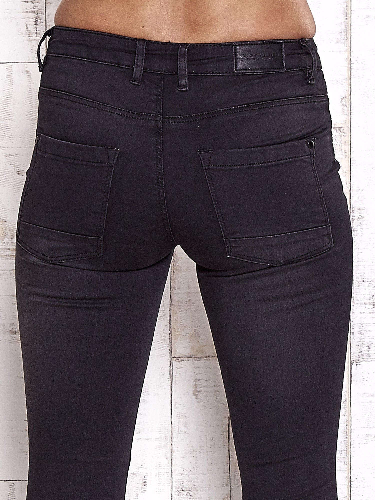 TOM TAILOR Czarne spodnie skinny jeans z dżetami                                  zdj.                                  6