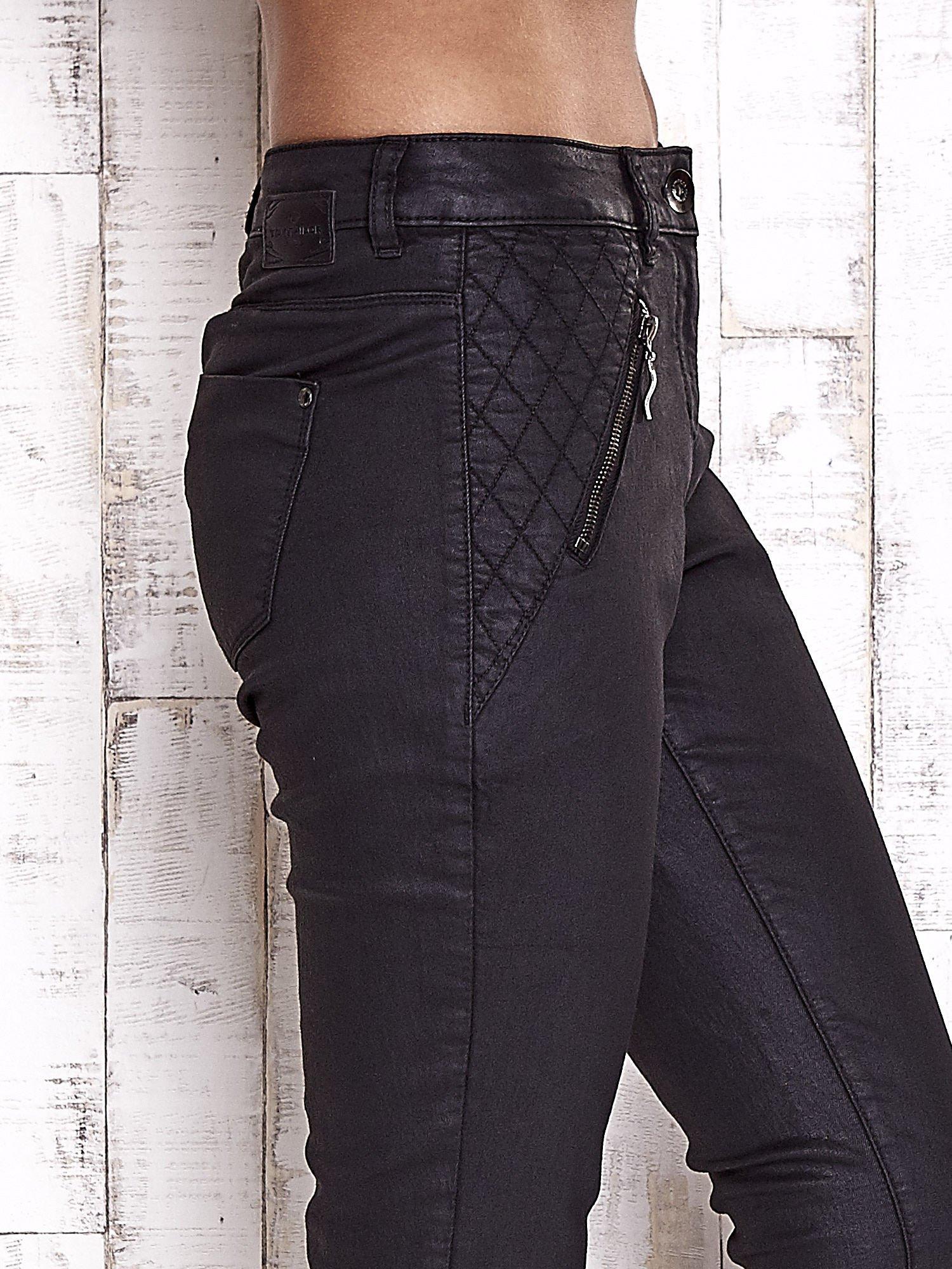 TOM TAILOR Czarne spodnie skinny z suwakami                                  zdj.                                  5