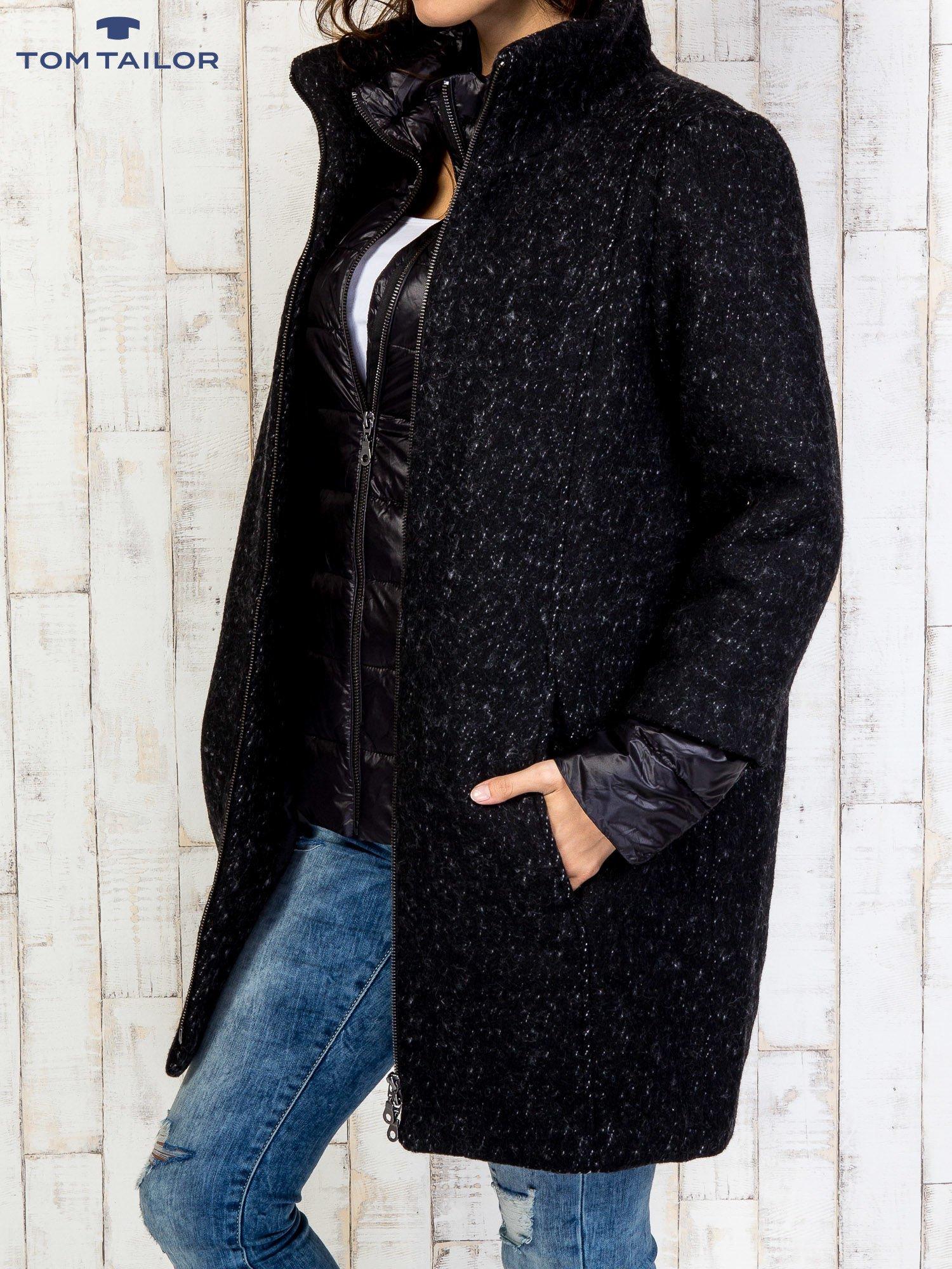 TOM TAILOR Czarny dwuczęściowy płaszcz z kurtką pikowaną                                  zdj.                                  4