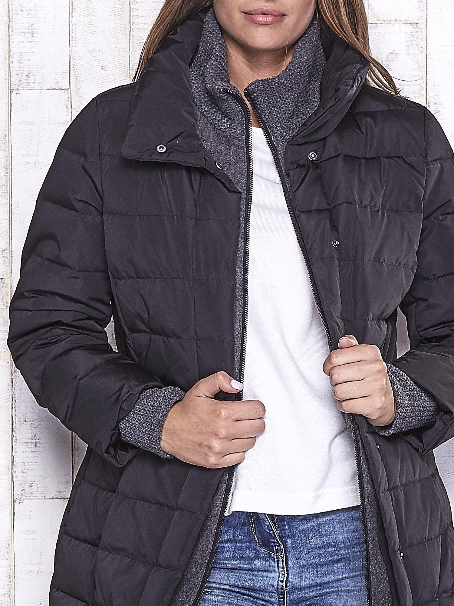 TOM TAILOR Czarny płaszcz z wełnianym wykończeniem                                  zdj.                                  8
