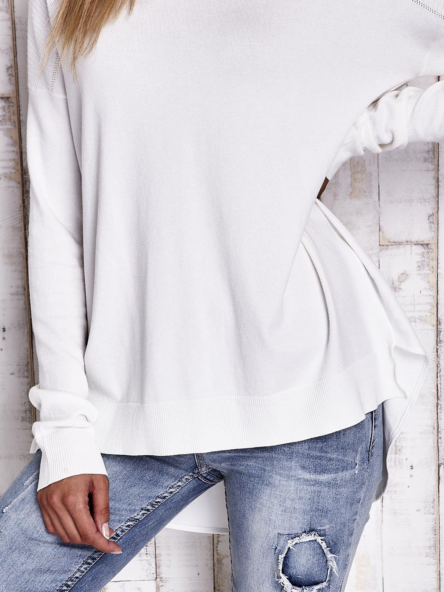 TOM TAILOR Ecru warstwowy sweter                                   zdj.                                  6