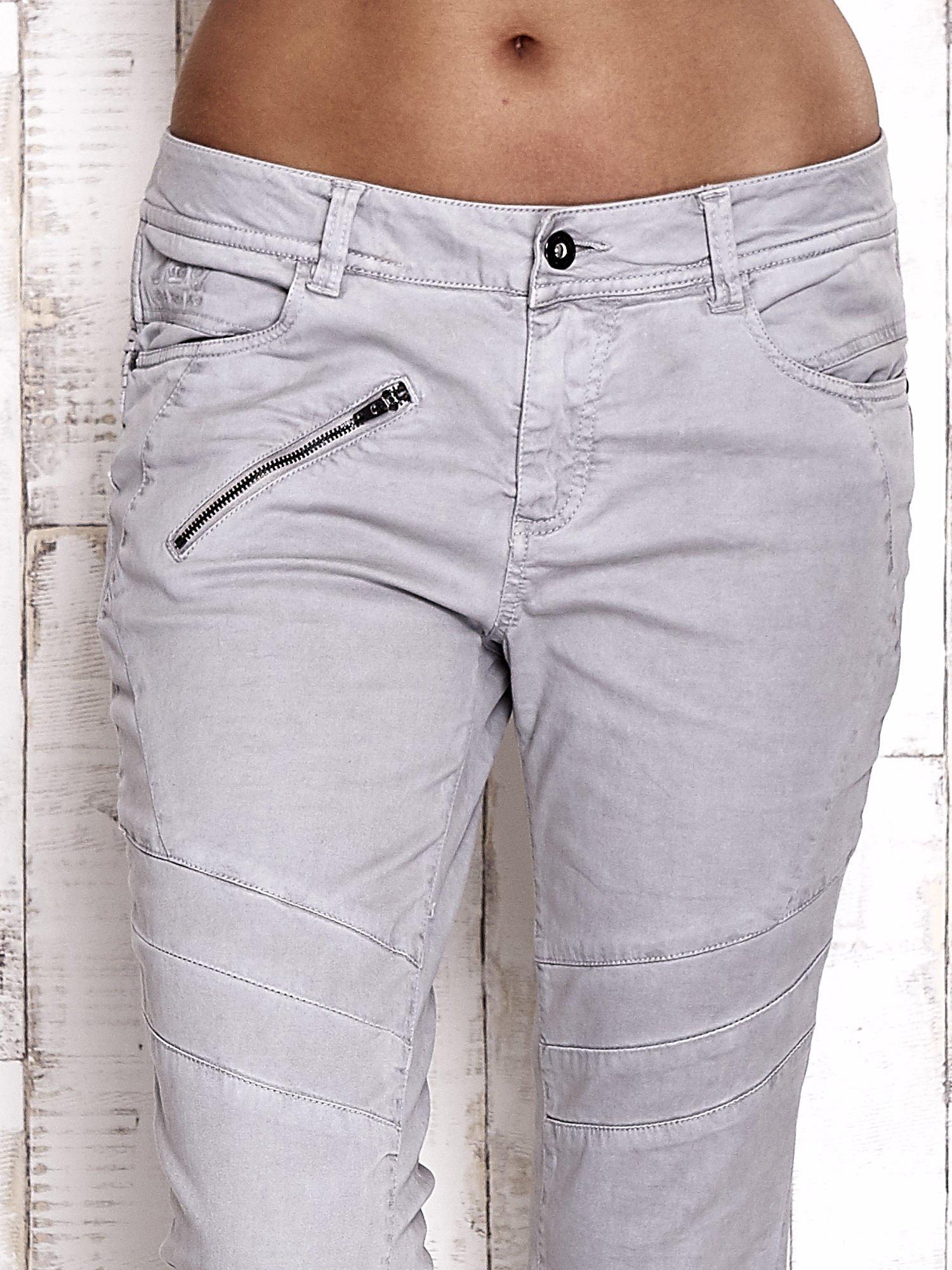 TOM TAILOR Szare materiałowe spodnie                                  zdj.                                  4