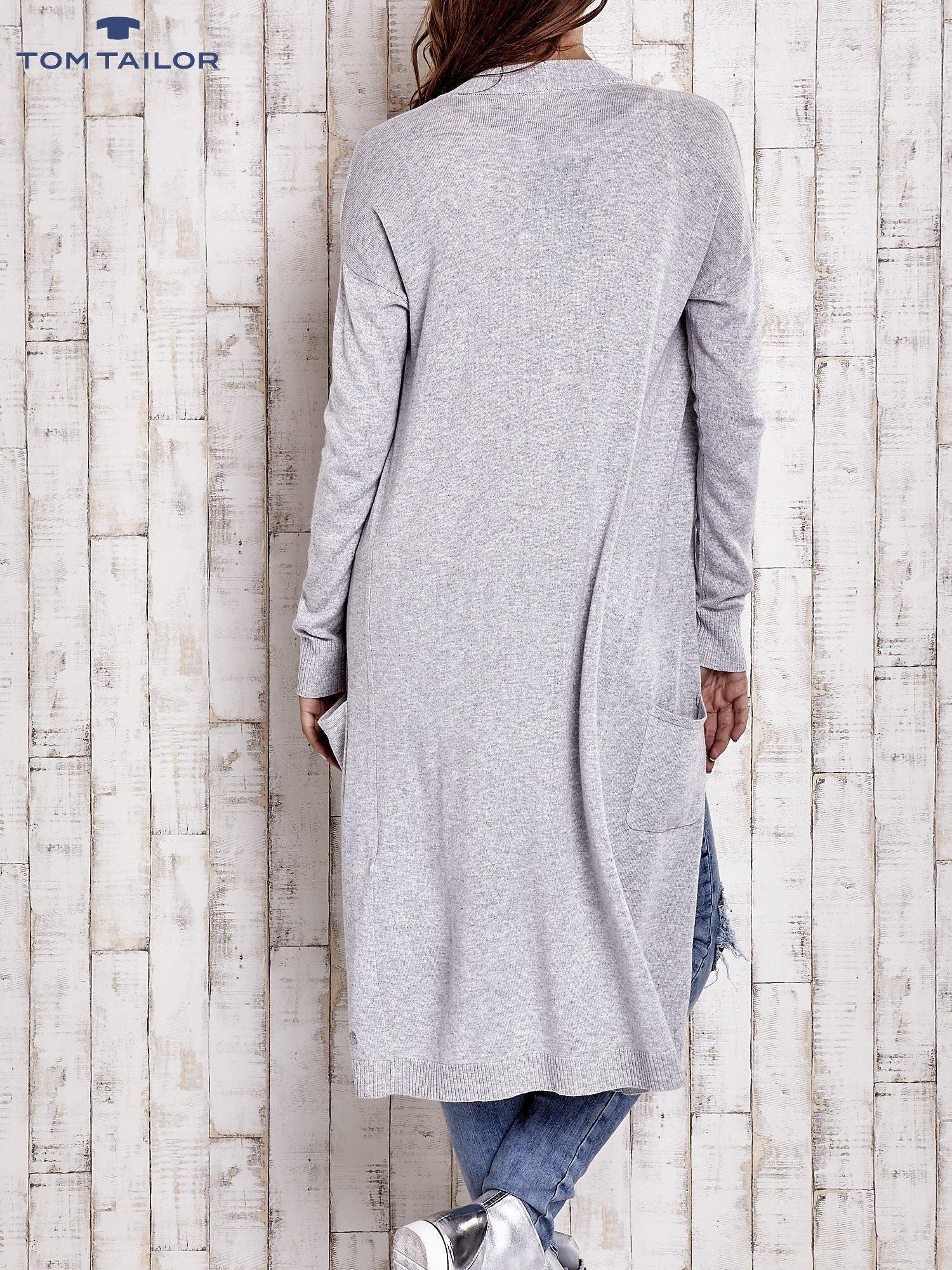TOM TAILOR Szary długi sweter z kieszeniami                                  zdj.                                  2