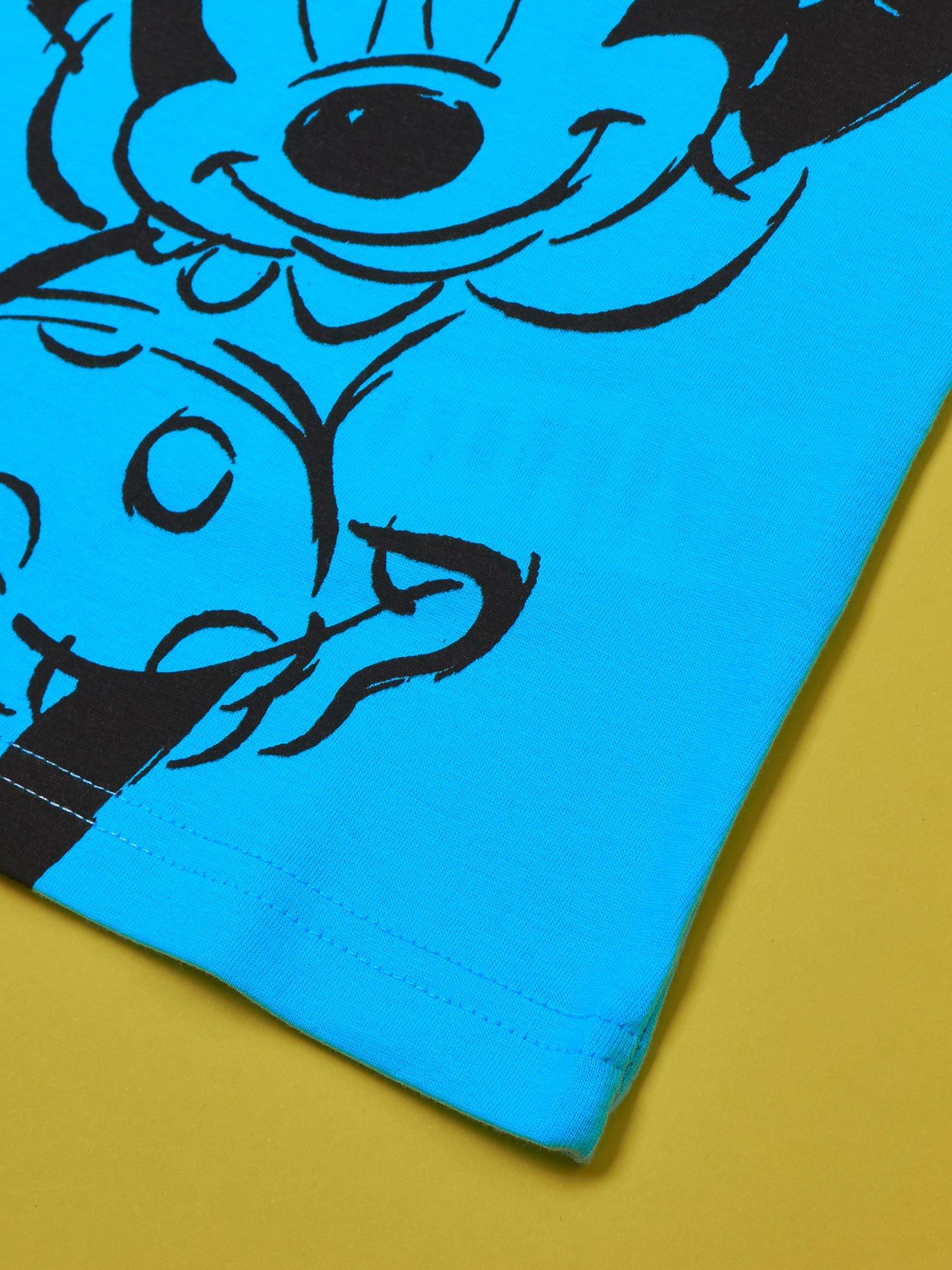 Turkusowy t-shirt dla dziewczynki z cekinami MYSZKA MIKI                                  zdj.                                  3