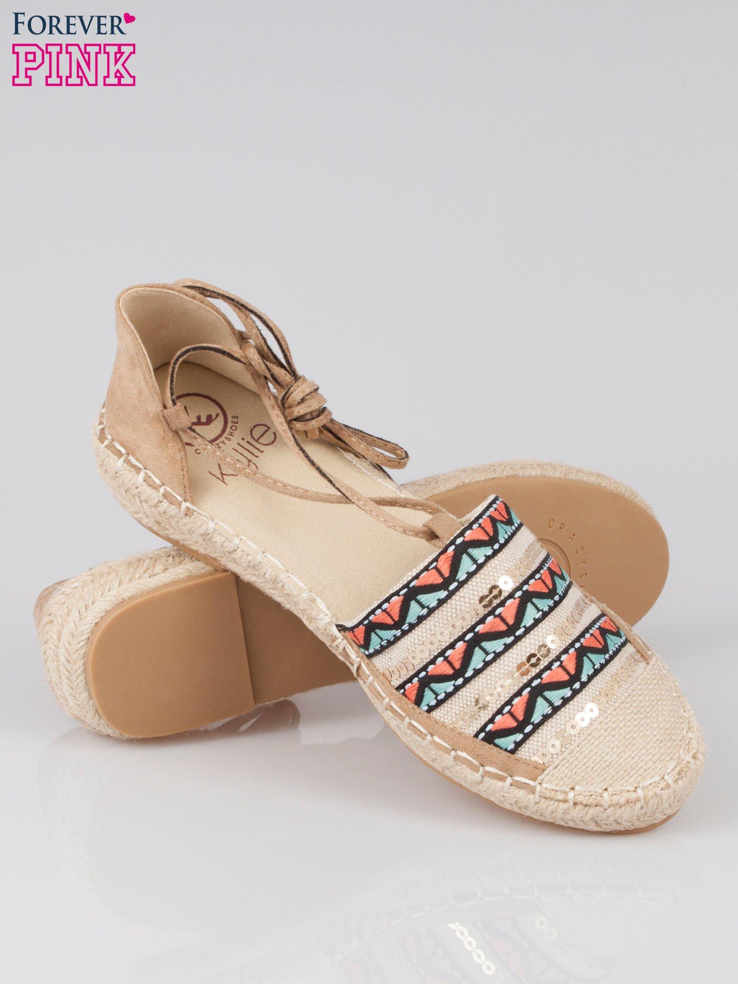 Wiązane espadryle lace up w azteckie wzory                                  zdj.                                  4