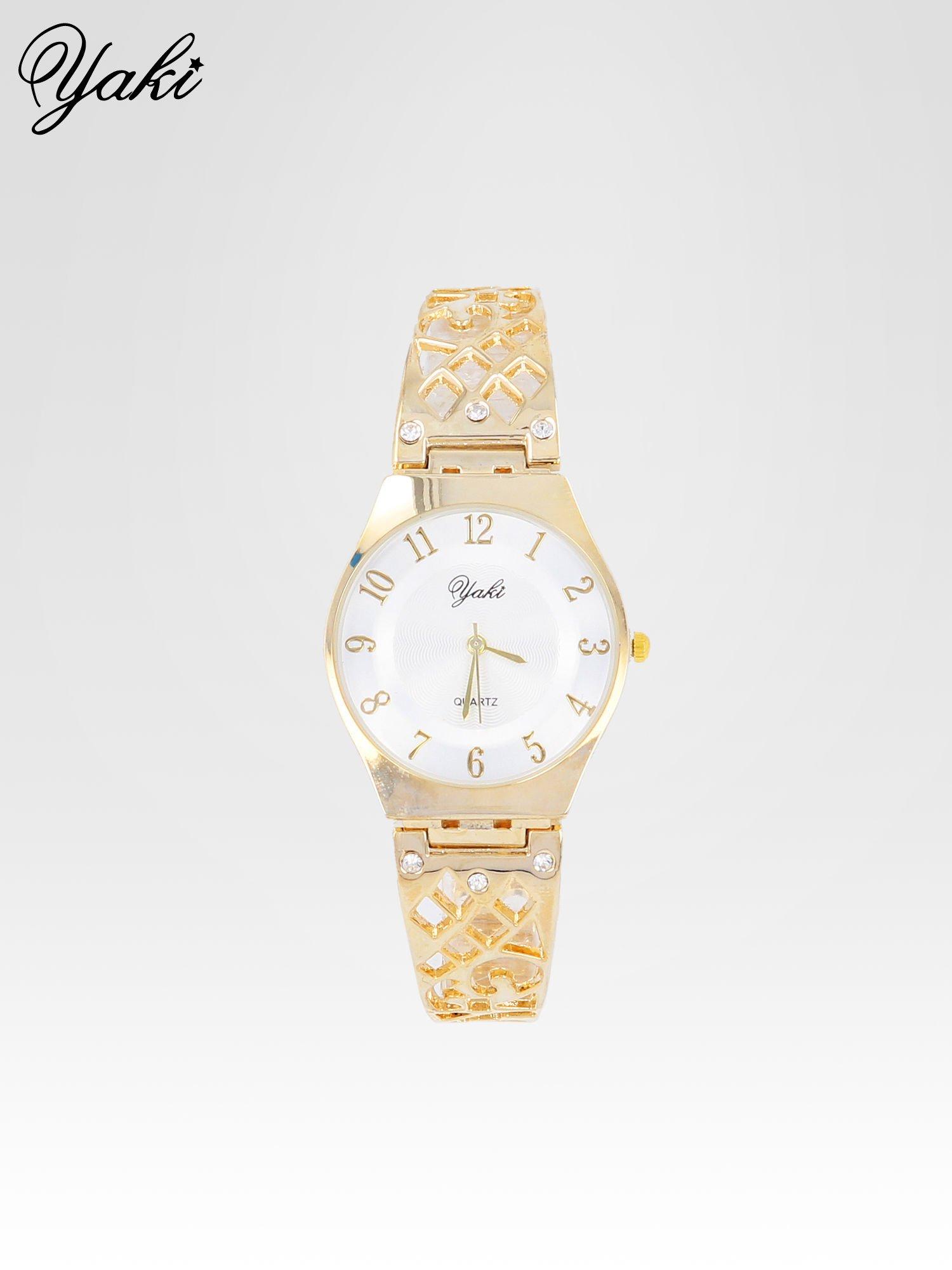 Zegarek na bansolecie z cyrkoniami ze złota                                  zdj.                                  1