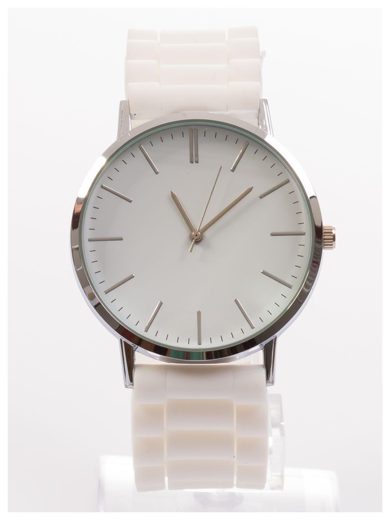 Zegarek unisex. Duża, wyraźna tarcza i doskonała prezencja. Wygodny silikonowy pasek.                                  zdj.                                  1