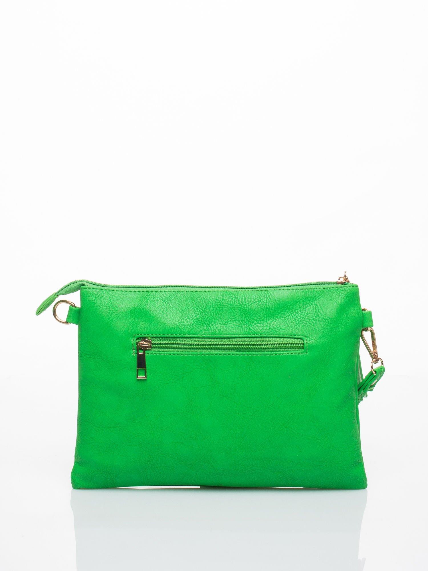 Zielona kopertówka z dżetami motyw czaszki                                  zdj.                                  2
