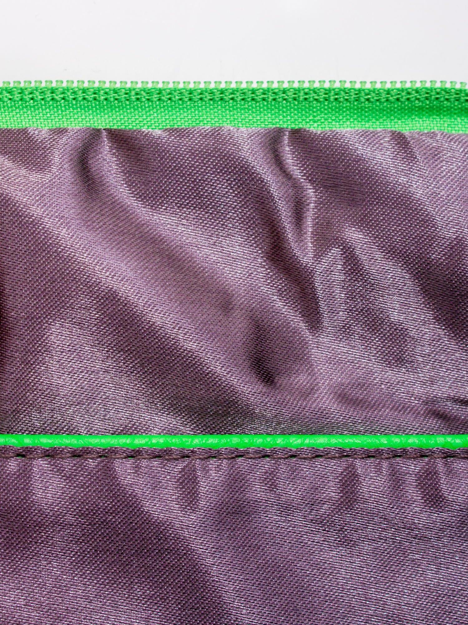 Zielona kopertówka z dżetami napis LUCY WORLD                                  zdj.                                  7