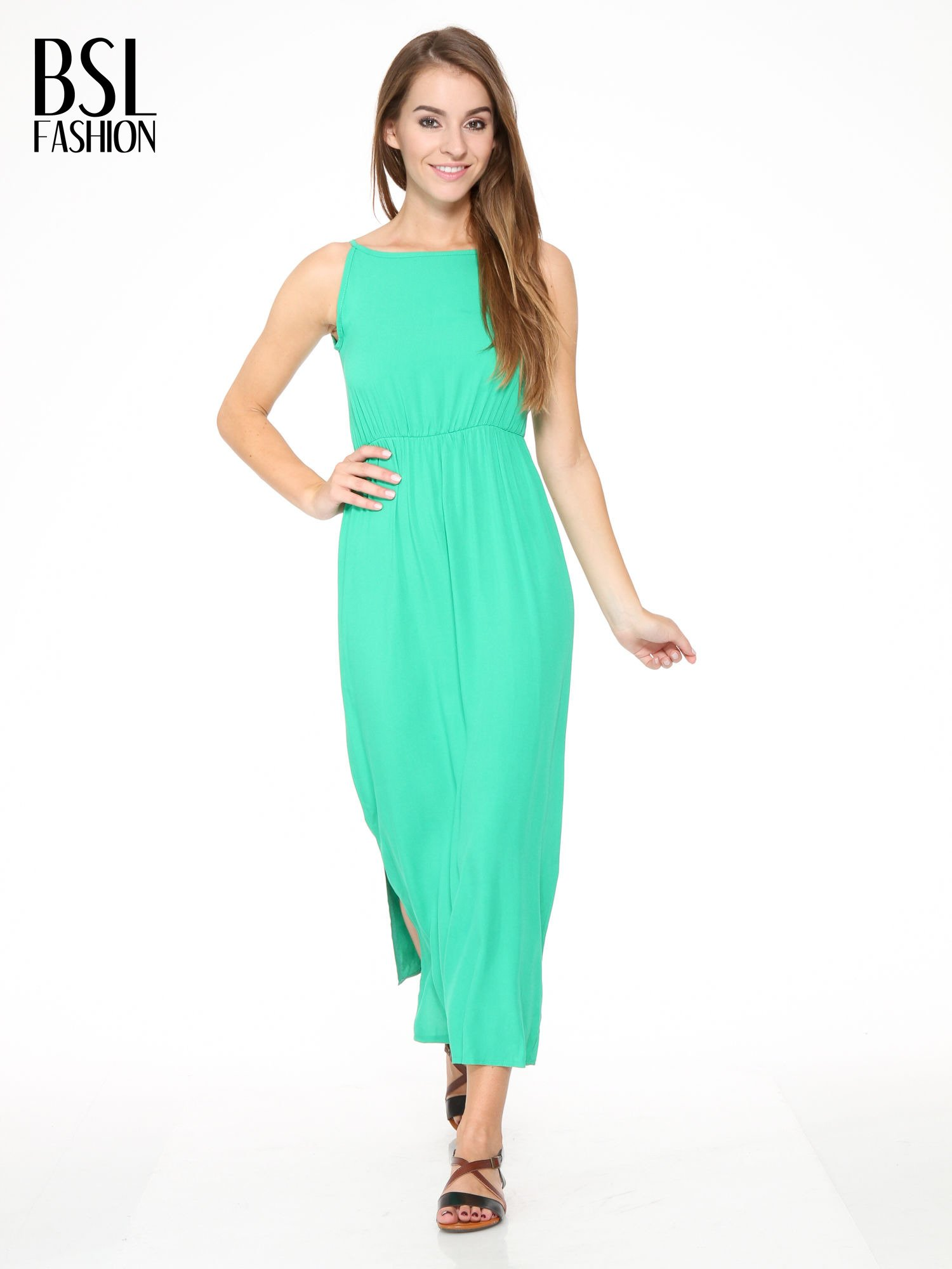 Zielona sukienka w stylu greckim                                  zdj.                                  1