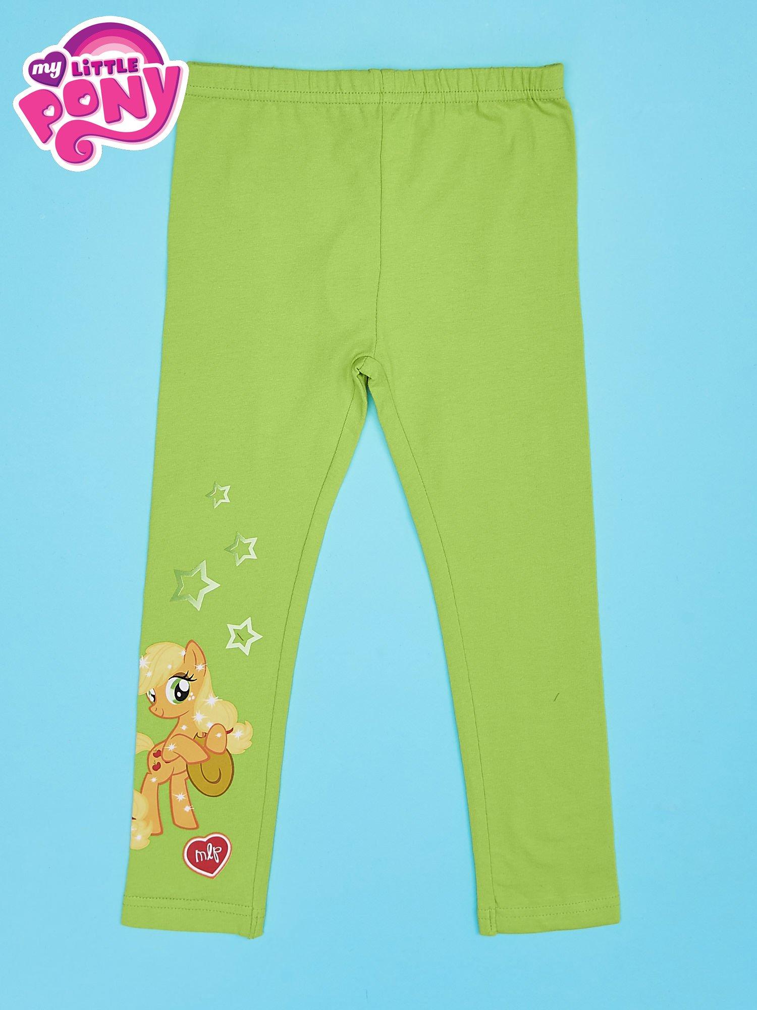 Zielone legginsy dla dziewczynki z nadrukiem MY LITTLE PONY                                  zdj.                                  1