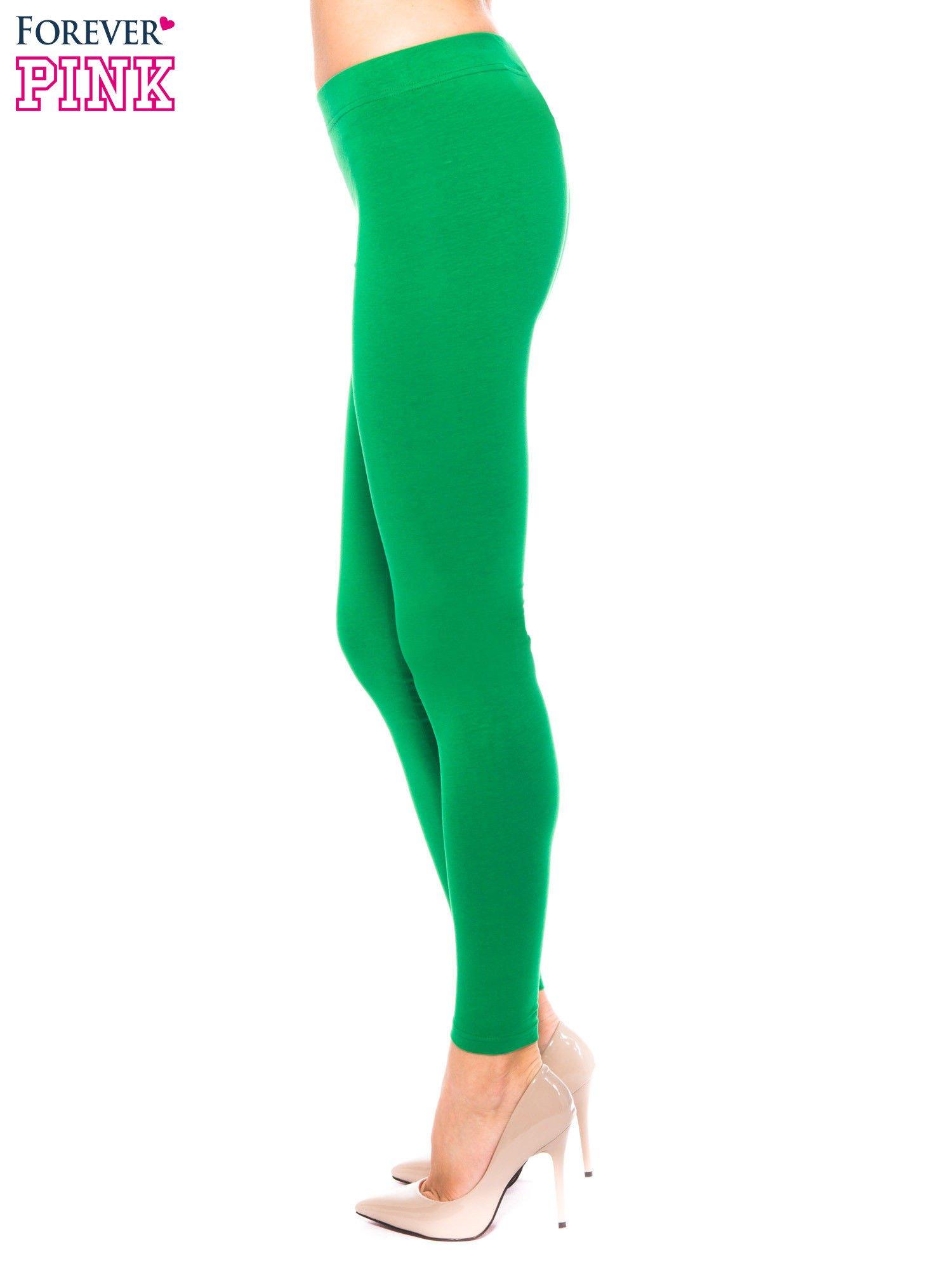 Zielone legginsy z bawełny                                  zdj.                                  2