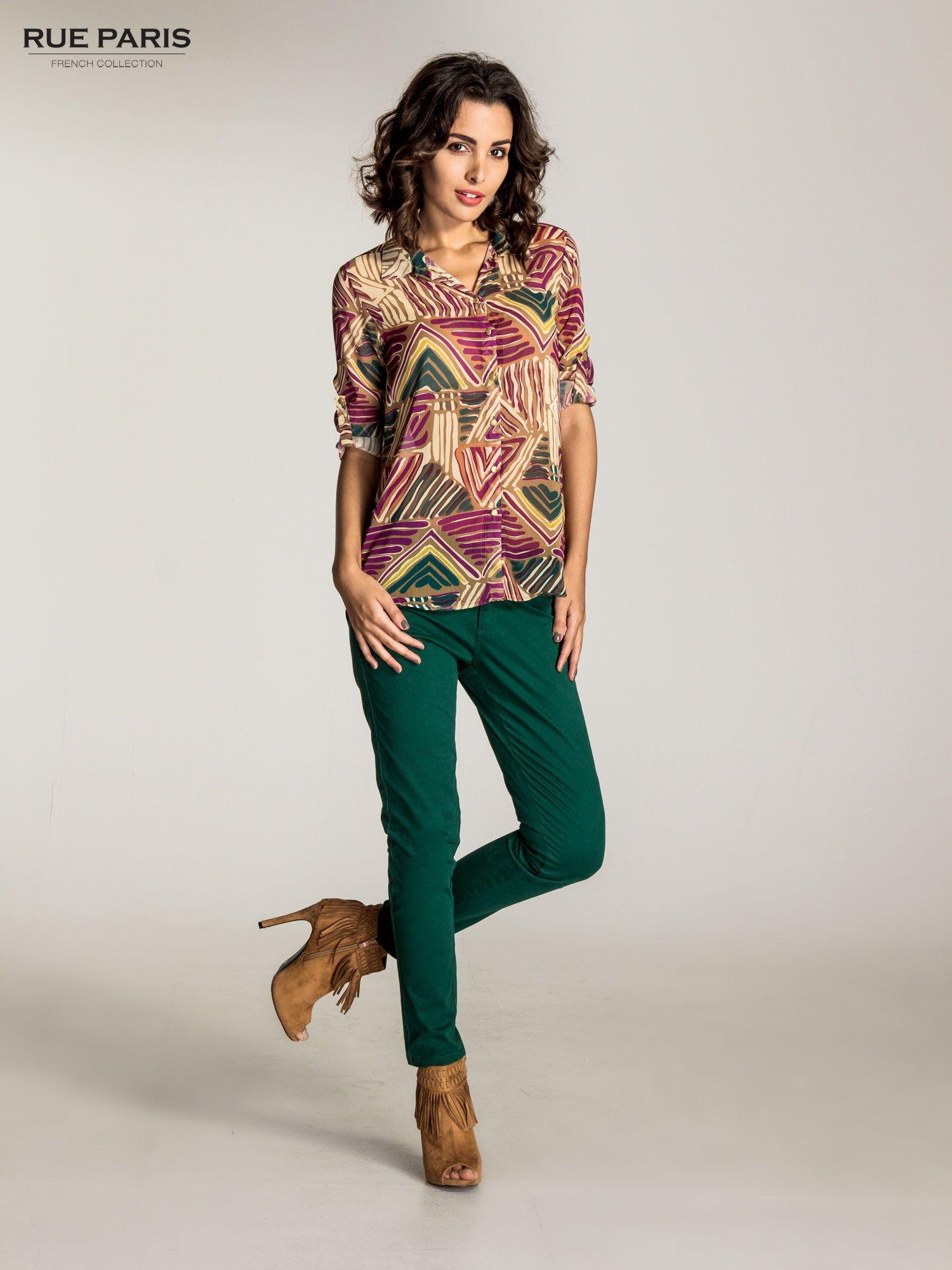 Zielone spodnie materiałowe w stylu chinos                                  zdj.                                  8