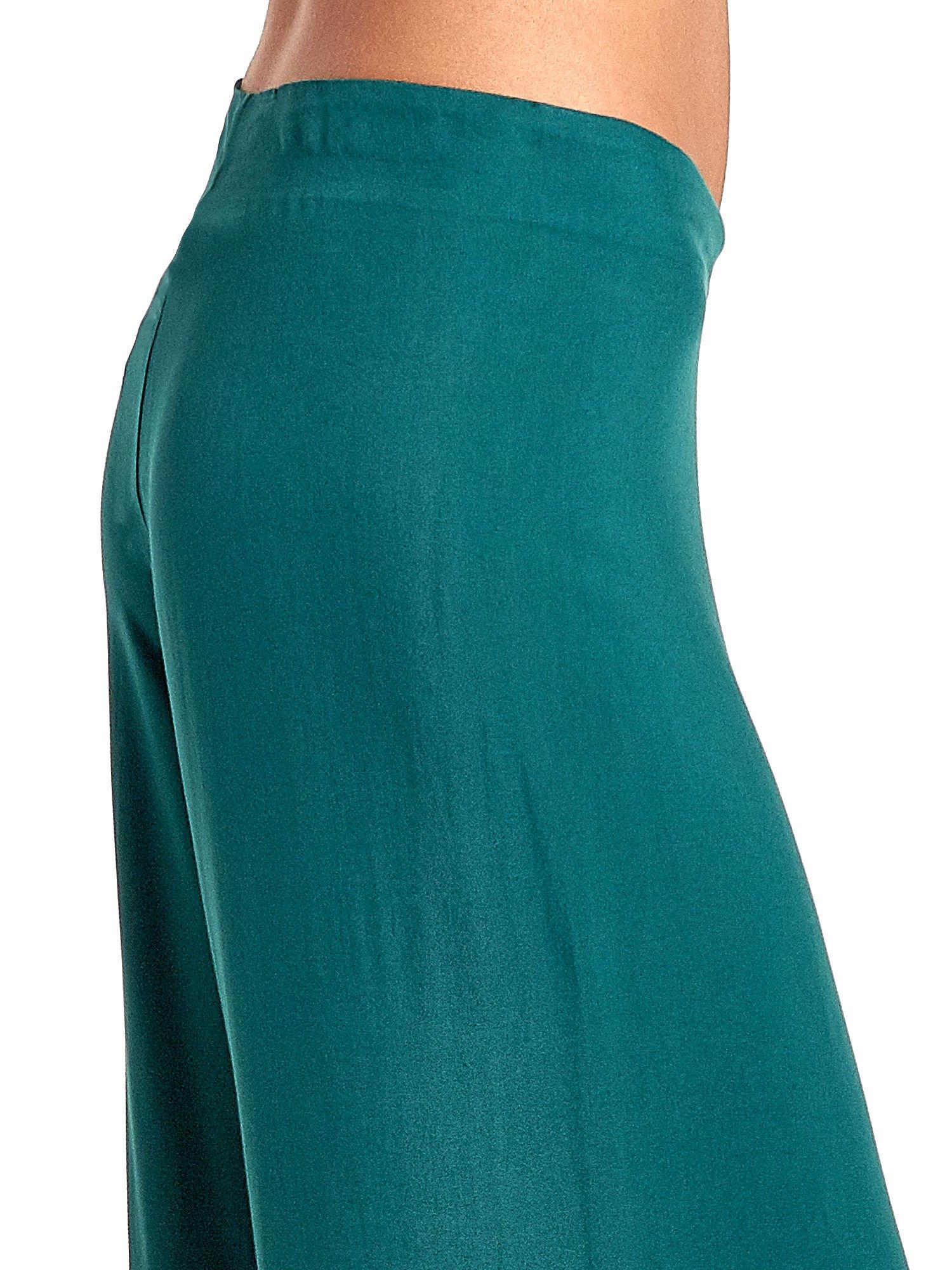Zielone zwiewne spodnie typu palazzo                                  zdj.                                  6