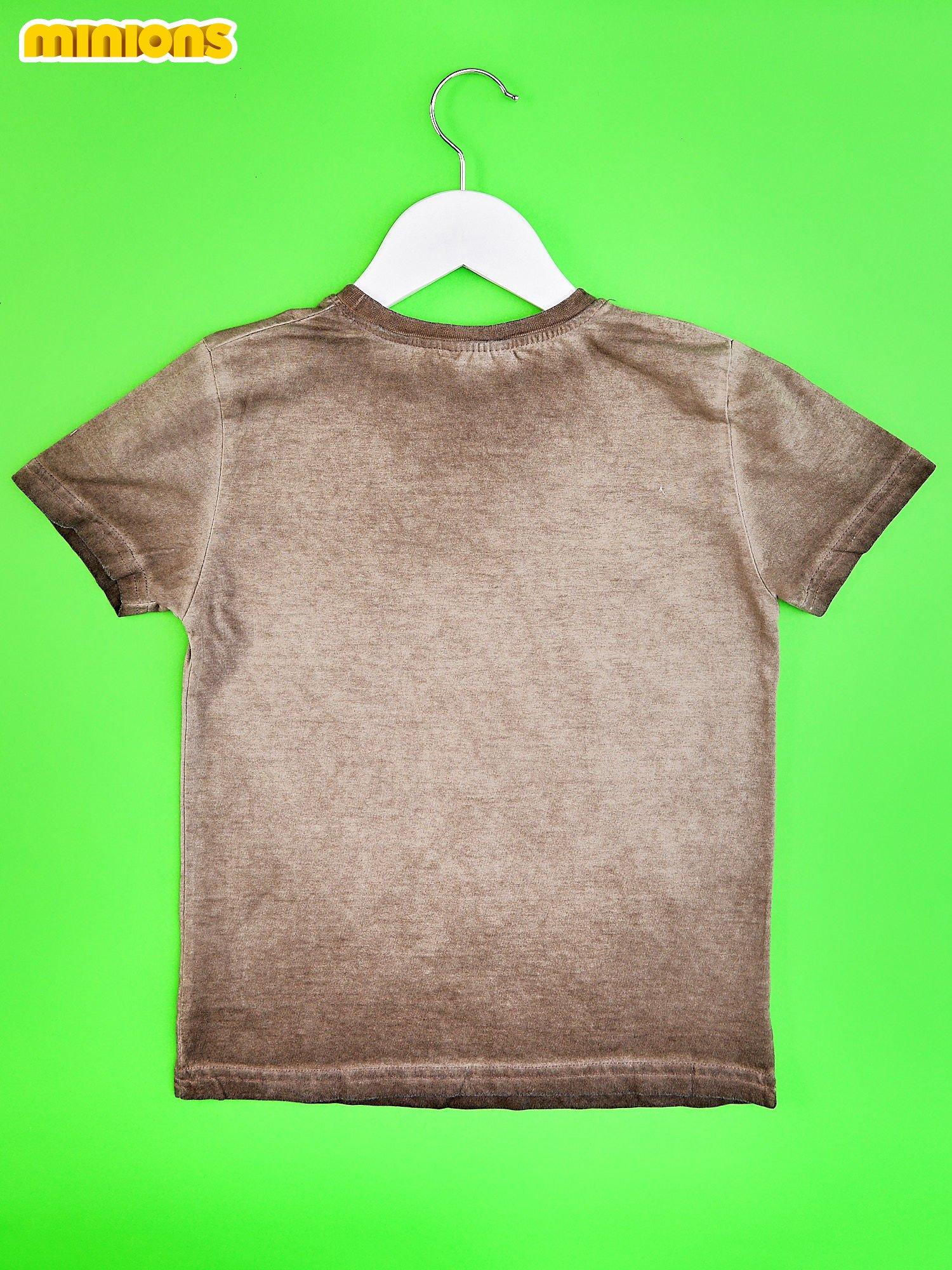 Zielony dekatyzowany t-shirt chłopięcy MINIONKI
