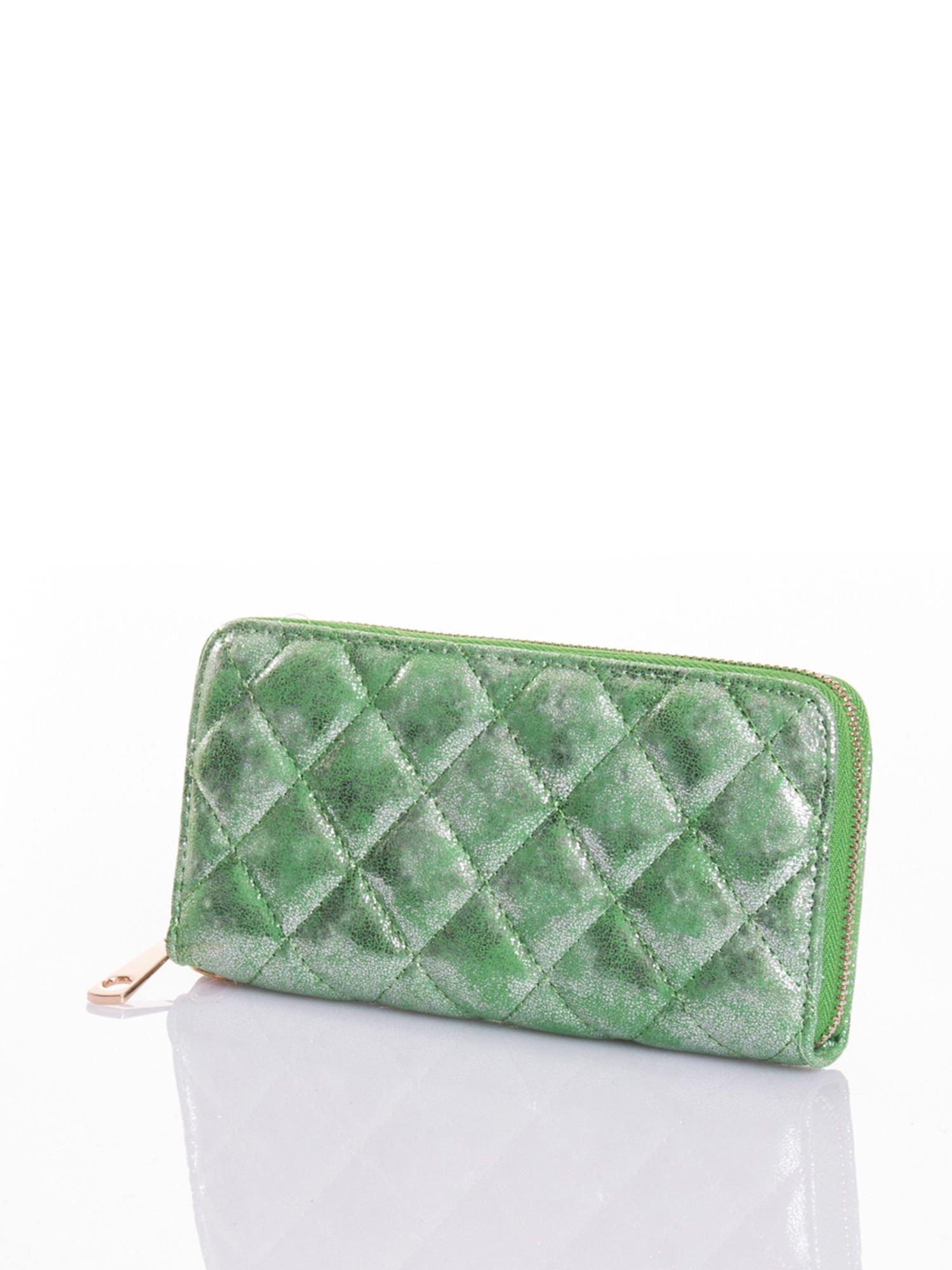 Zielony pikowany portfel                                  zdj.                                  2