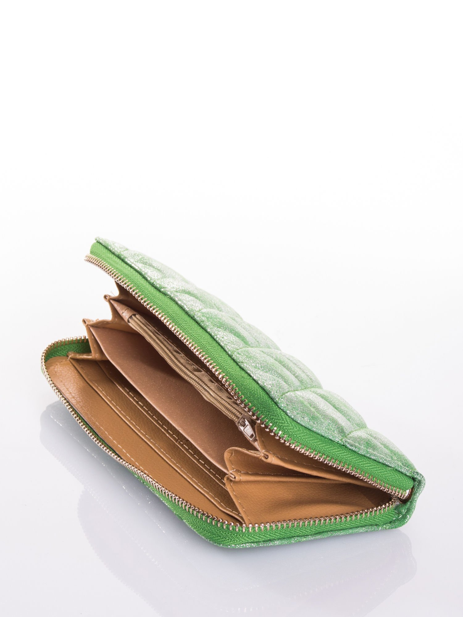 Zielony pikowany portfel                                  zdj.                                  3