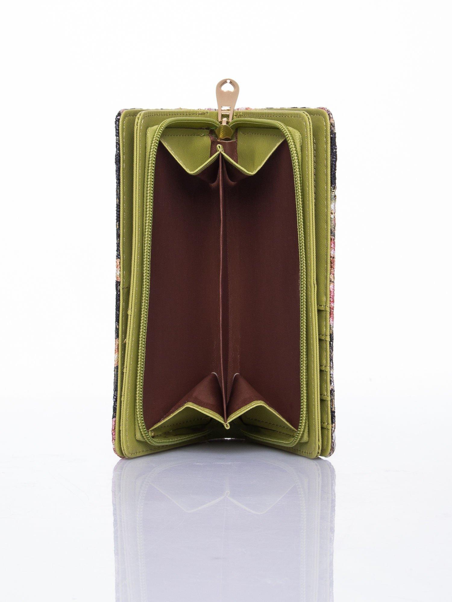 Zielony portfel z nadrukiem paisley                                  zdj.                                  6