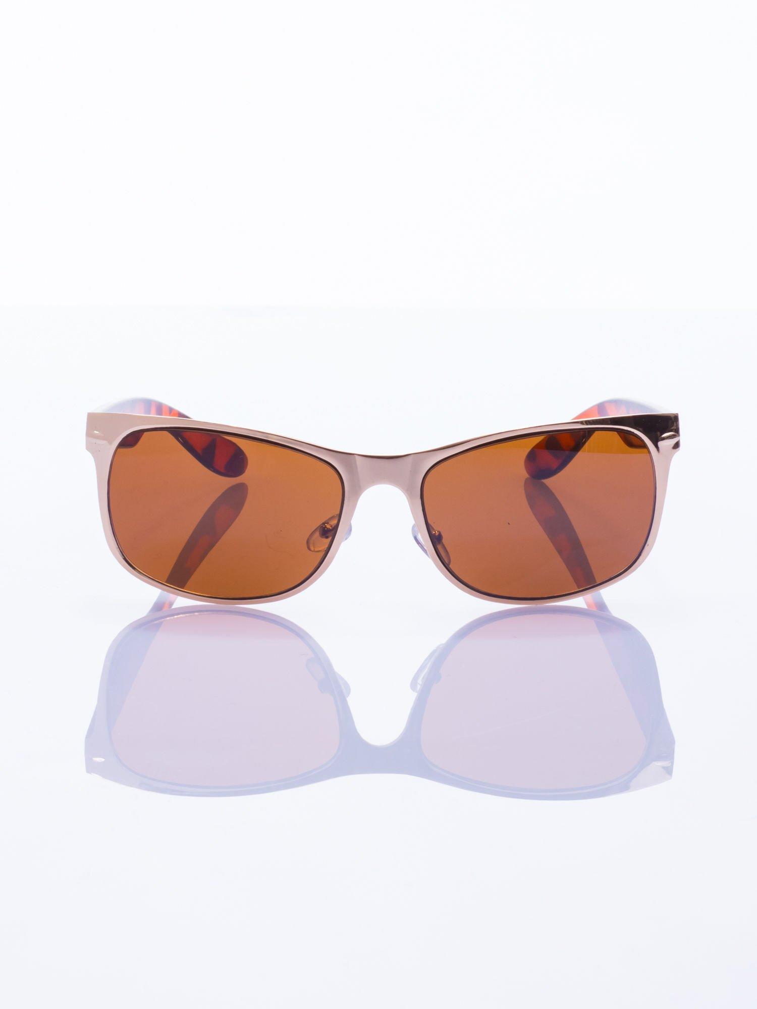Złote okulary przeciwsłoneczne                                   zdj.                                  2