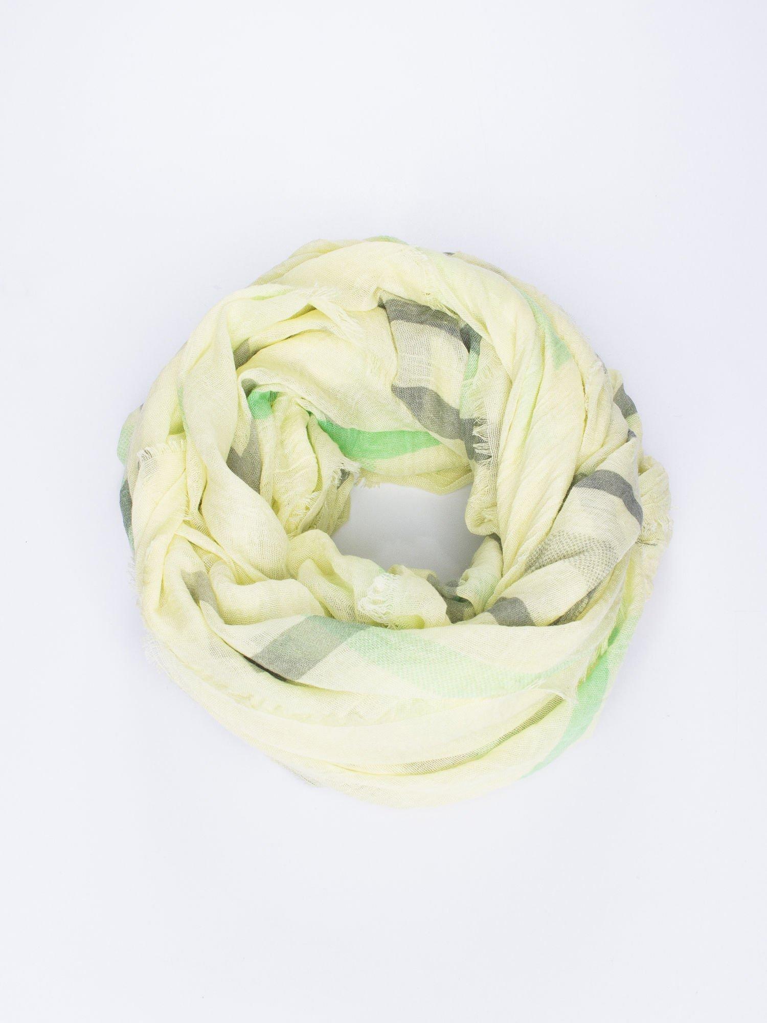 Żółta bawełniana chustka z frędzelkami                                  zdj.                                  1