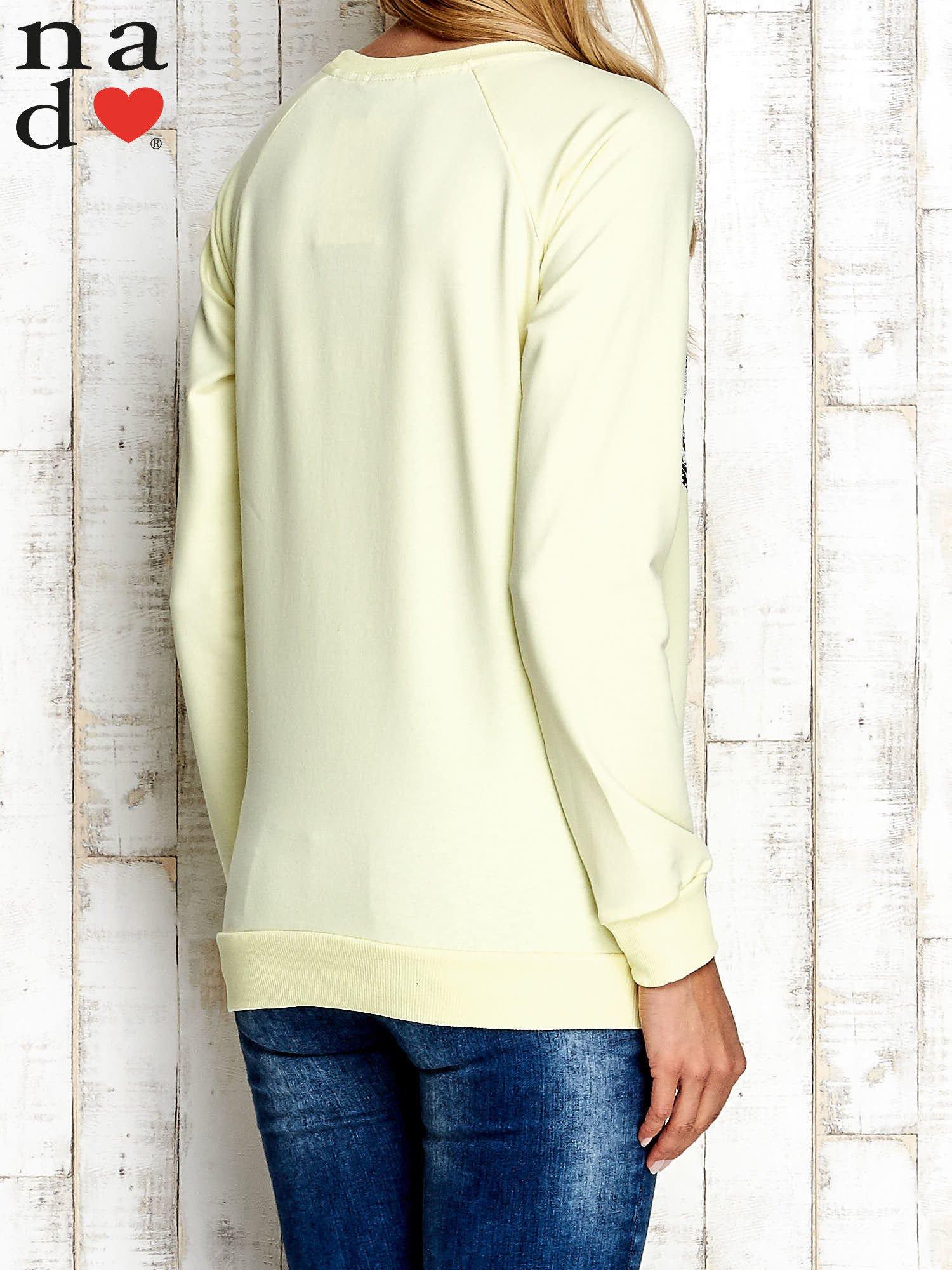 Żółta bluza z nadrukiem słonia                                  zdj.                                  2