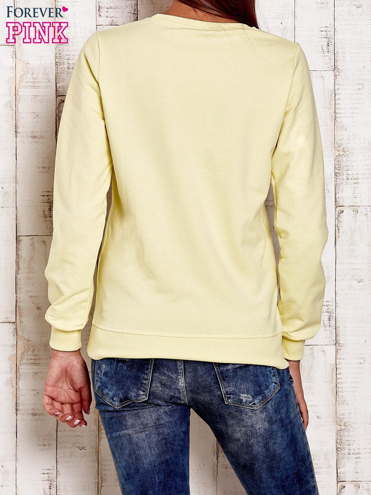 Żółta bluza z napisem GLITTER SPARKLE SHINE                                  zdj.                                  2