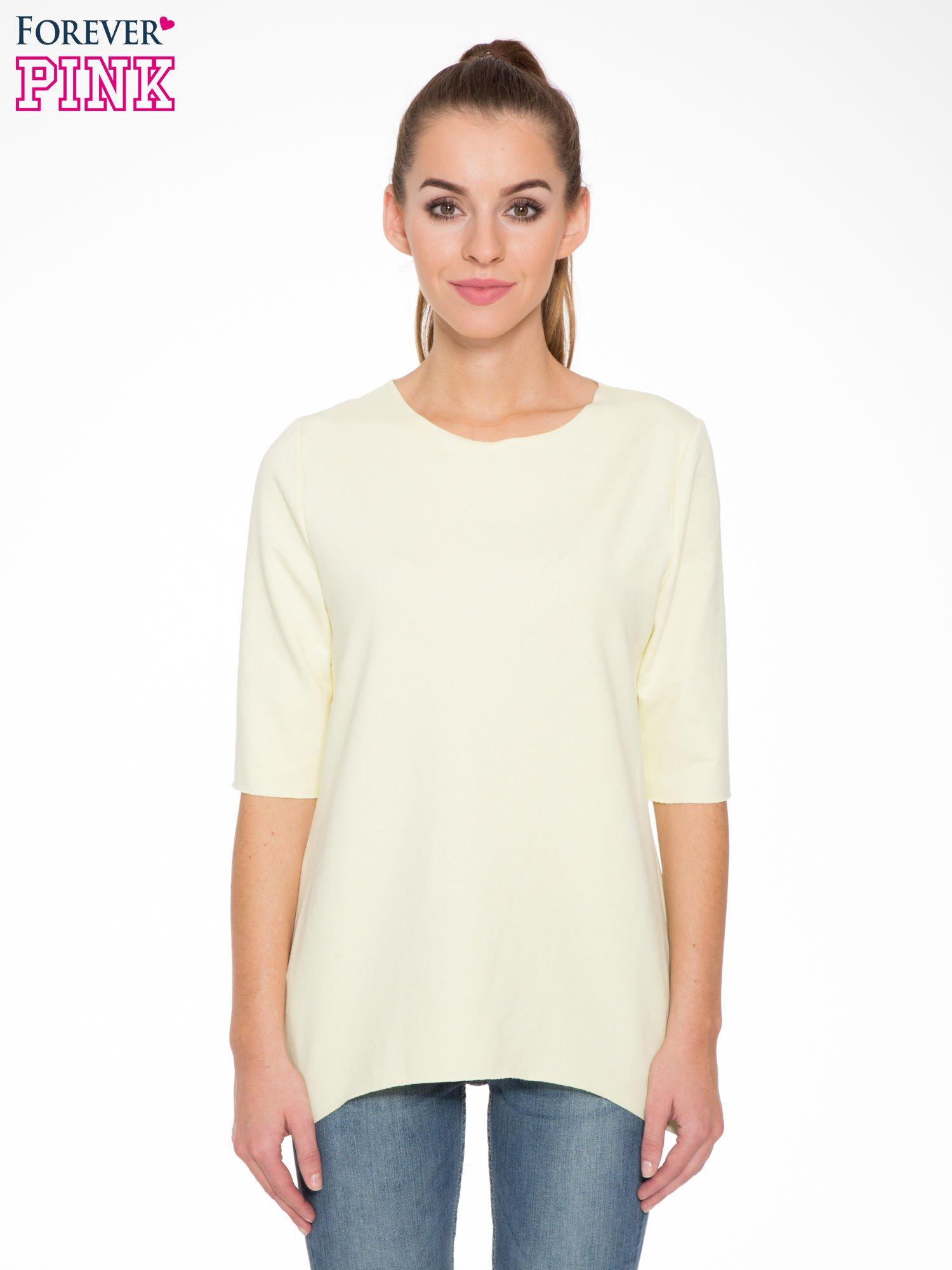 Żółta bluza z wydłużanymi bokami                                  zdj.                                  1