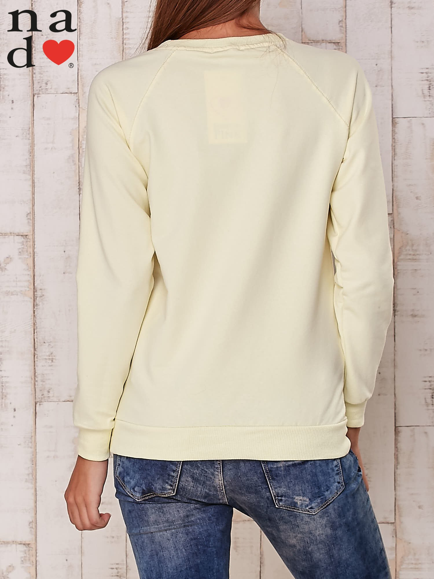 Żółta gładka bluza                                  zdj.                                  2