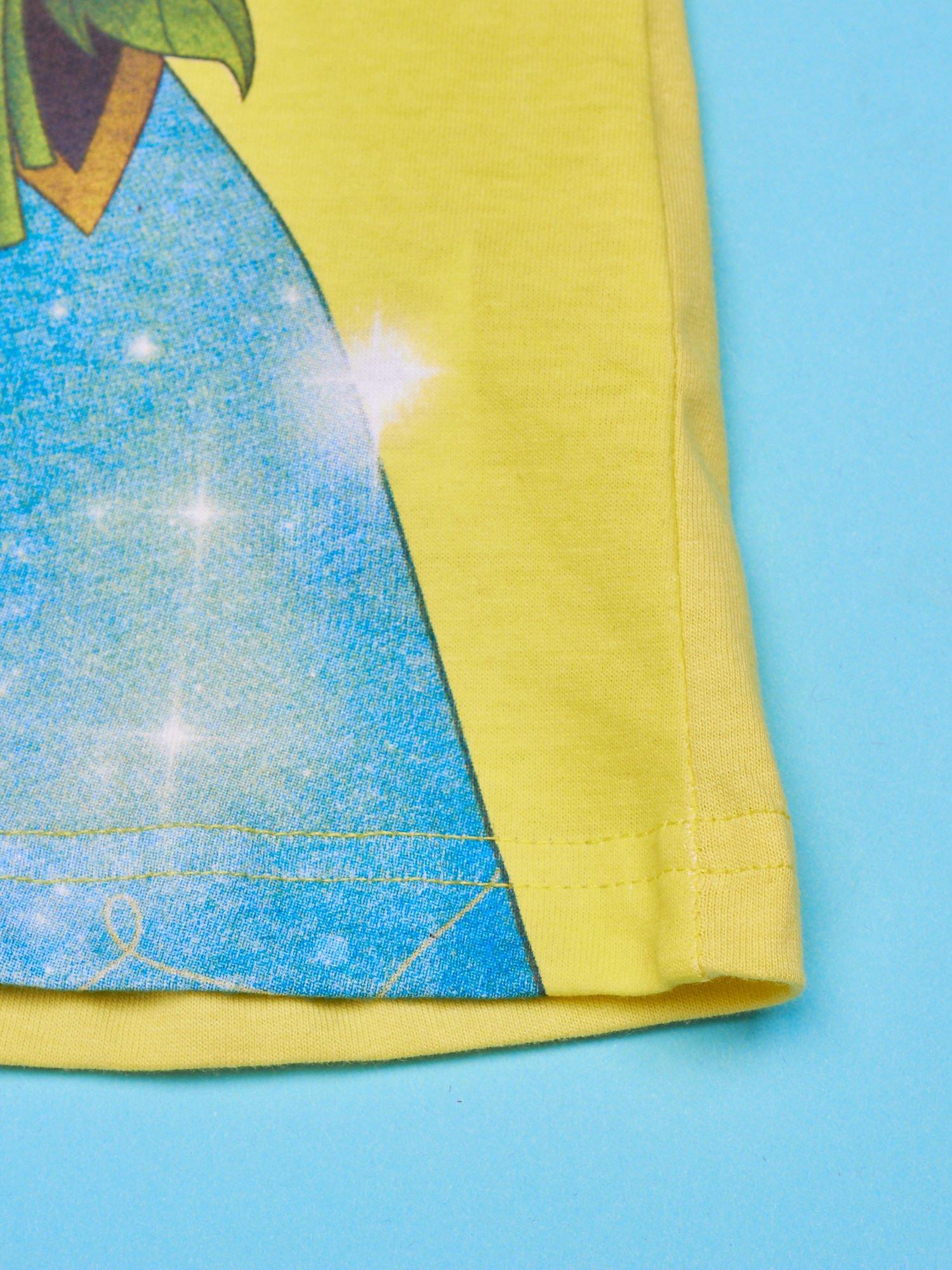 Żółta sukienka dla dziewczynki KRAINA LODU                                  zdj.                                  5