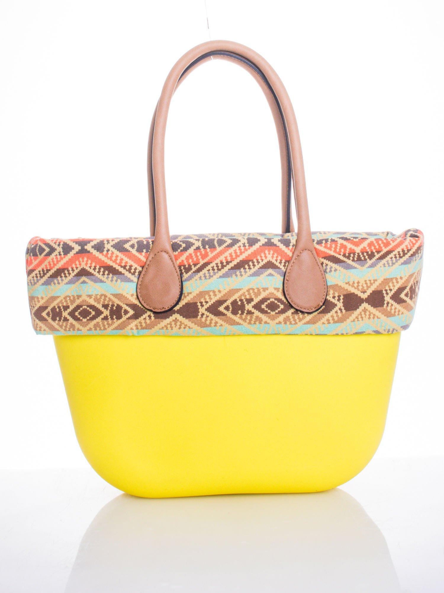 Żólta torba gumowa z motywem azteckim                                  zdj.                                  1