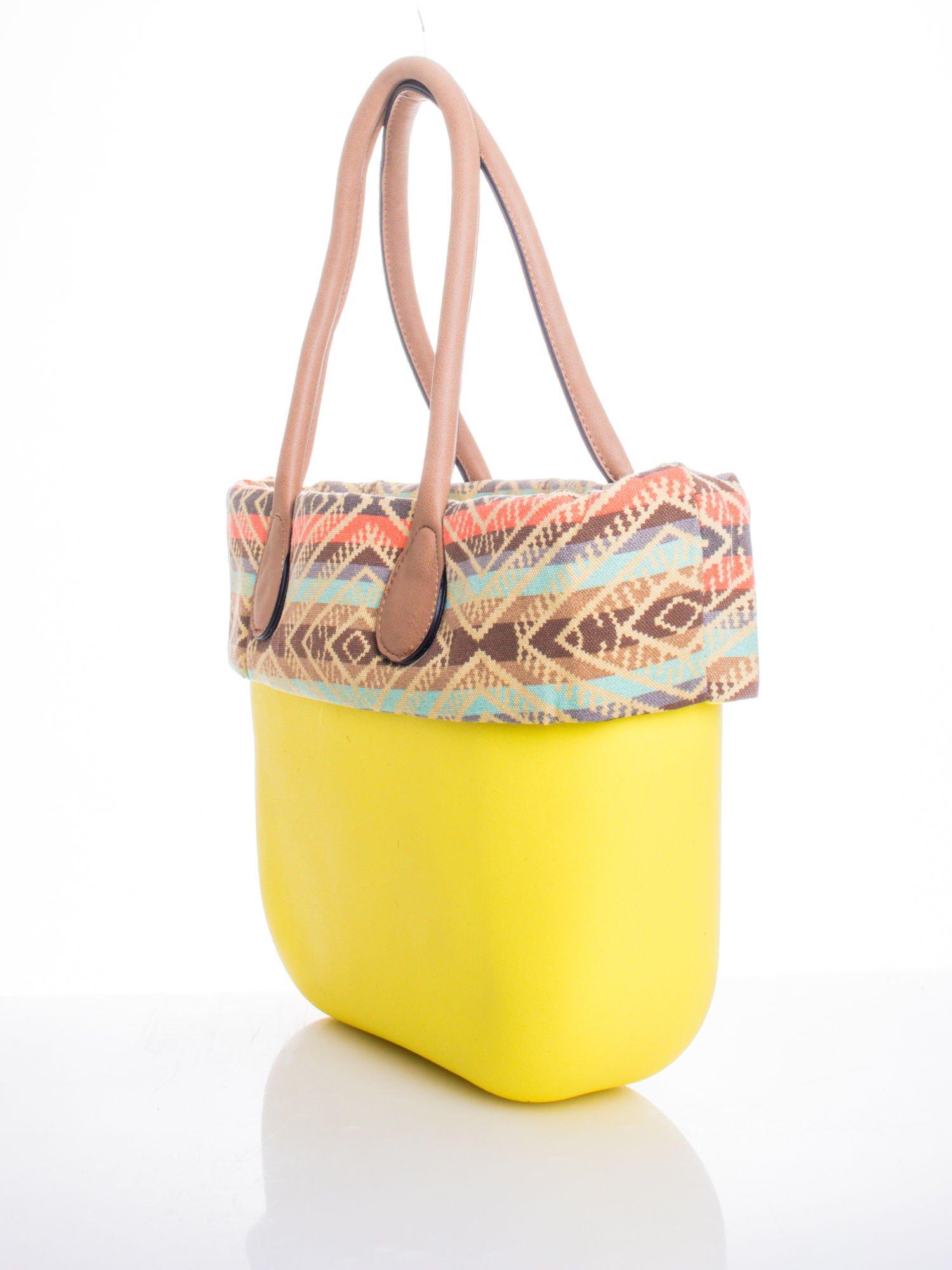 Żólta torba gumowa z motywem azteckim                                  zdj.                                  3